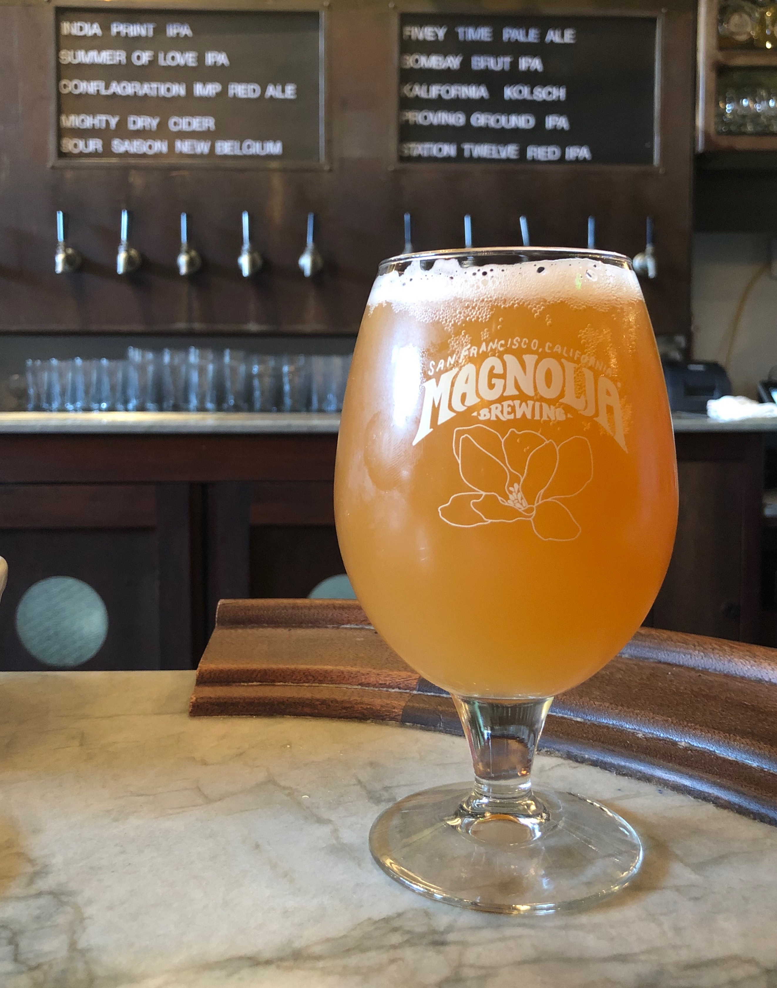 Bombay Brut IPA from Magnolia Brewing that was brewed by Dick Cantwell.