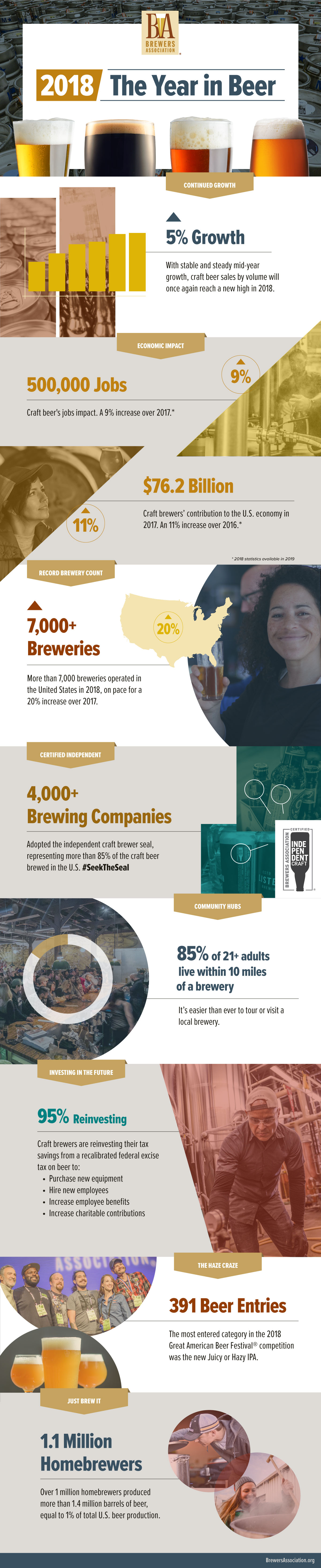 Brewers Association 2018 Year in Review Infographic