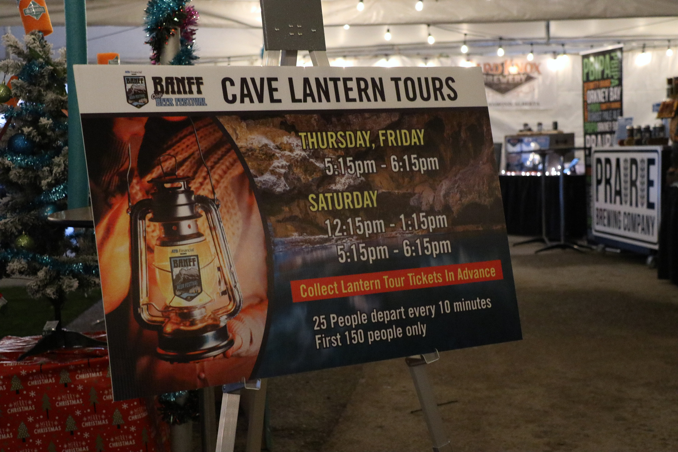 Cave Lantern Tours at the Banff Craft Beer Festival.