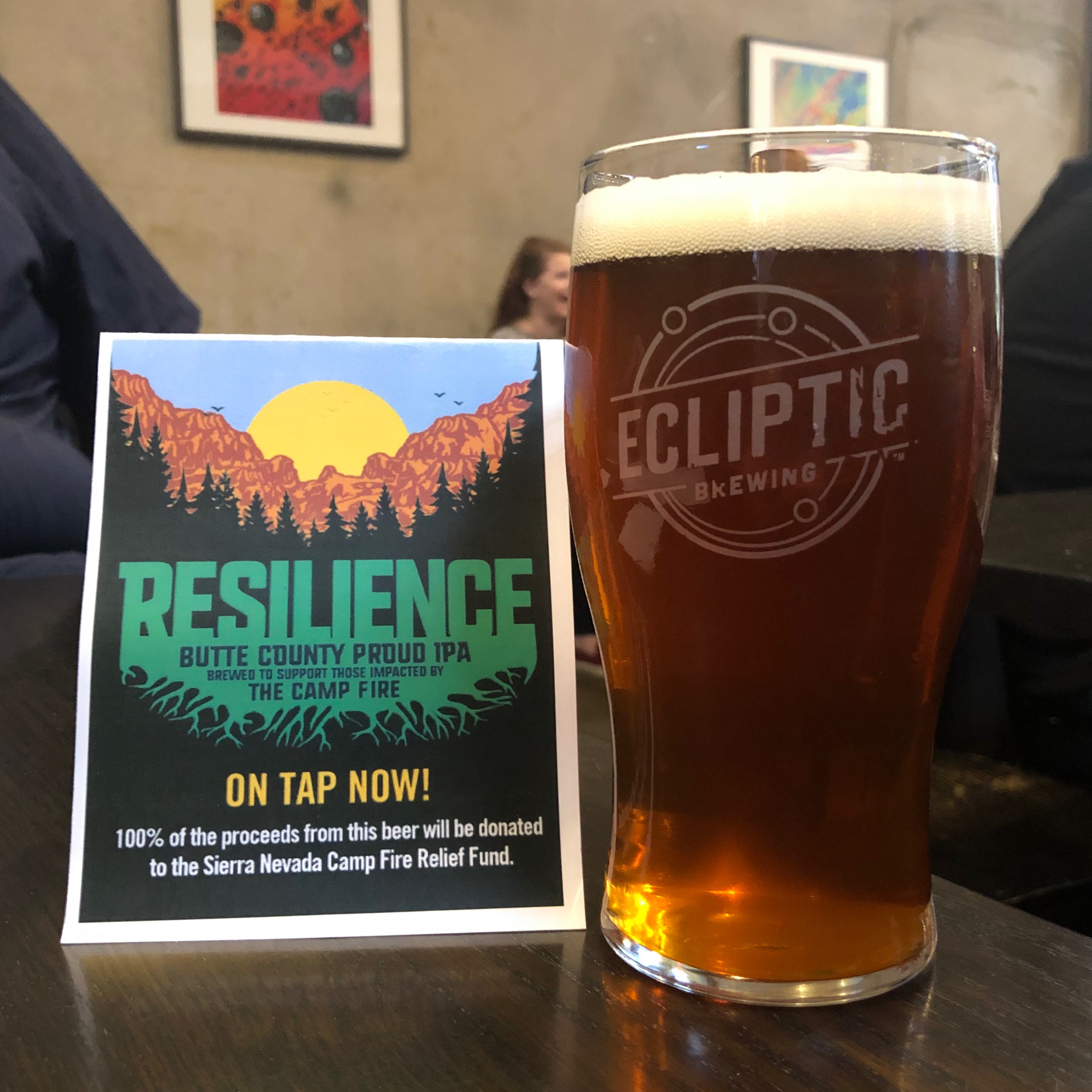 Ecliptic Brewing Resilience IPA poured at its release on Saturday, December 15, 2018.