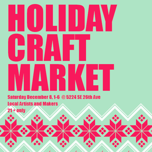 Gigantic Brewing Holiday Craft Market 2018