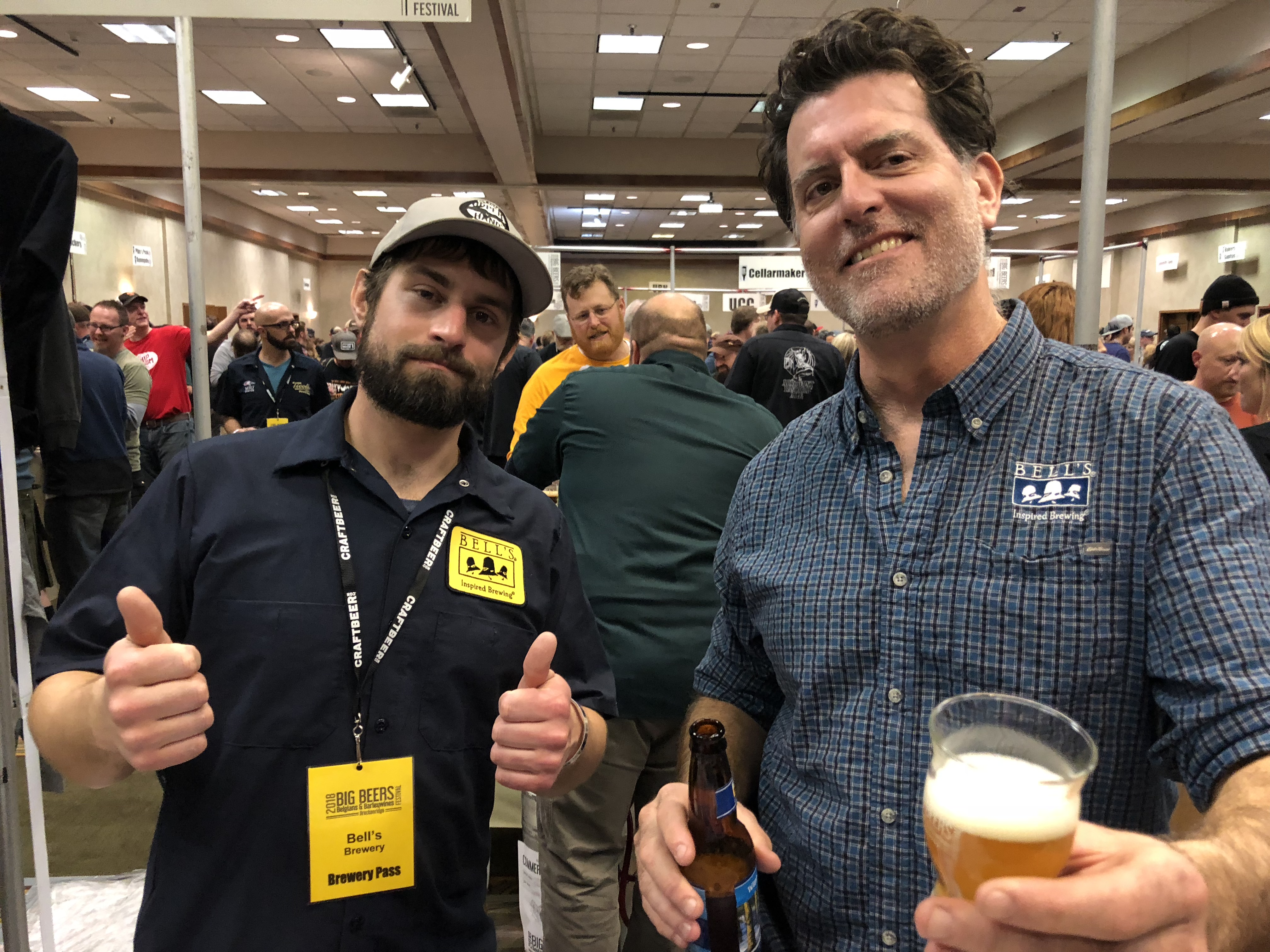John Mallett (right) from Bell's Brewery at the Big Beers, Belgians & Barleywines Festival.