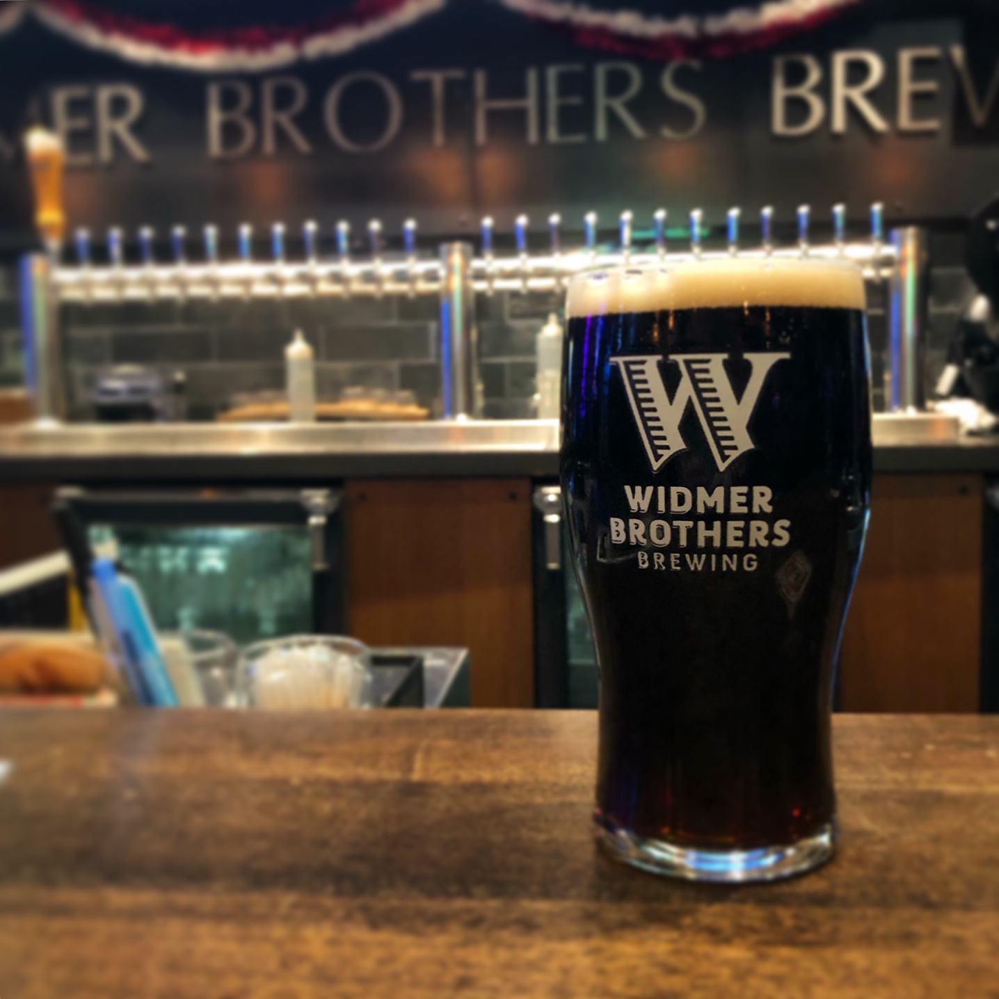 Roasted Chestnut Porter at Widmer Brothers Pub.