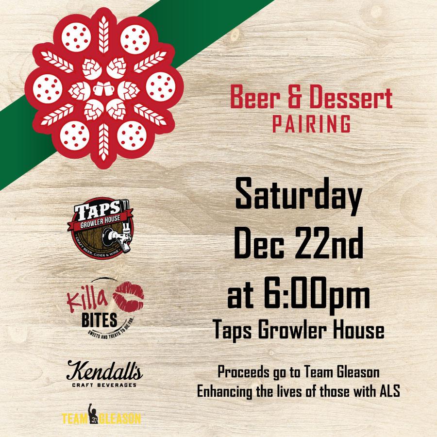 Taps Growler House Beer & Dessert Pairings Poster