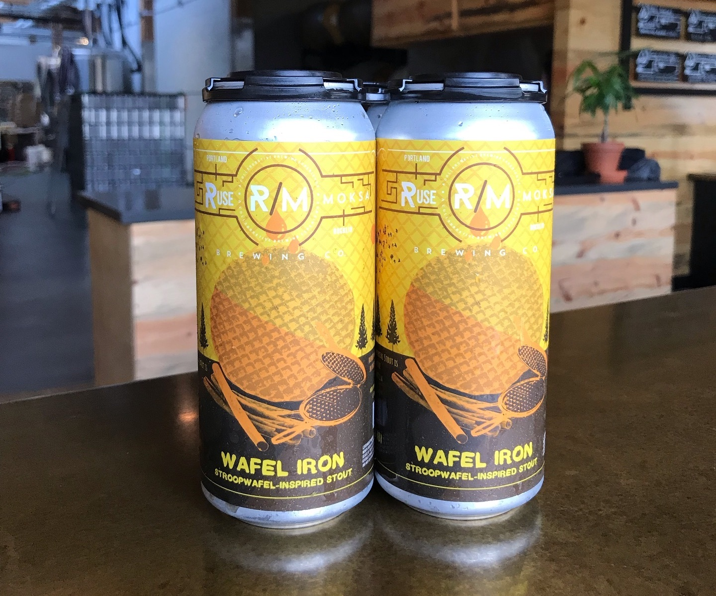 image of Wafel Iron Stroopwafel Inspired Stout courtesy of Ruse Brewing