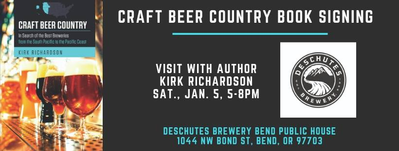 Craft Beer Country book signing by Kirk Richardson at Deschutes Brewery Bend Public House