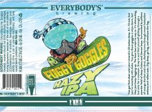 Everybodys Brewing Foggy Goggles Hazy IPA Label