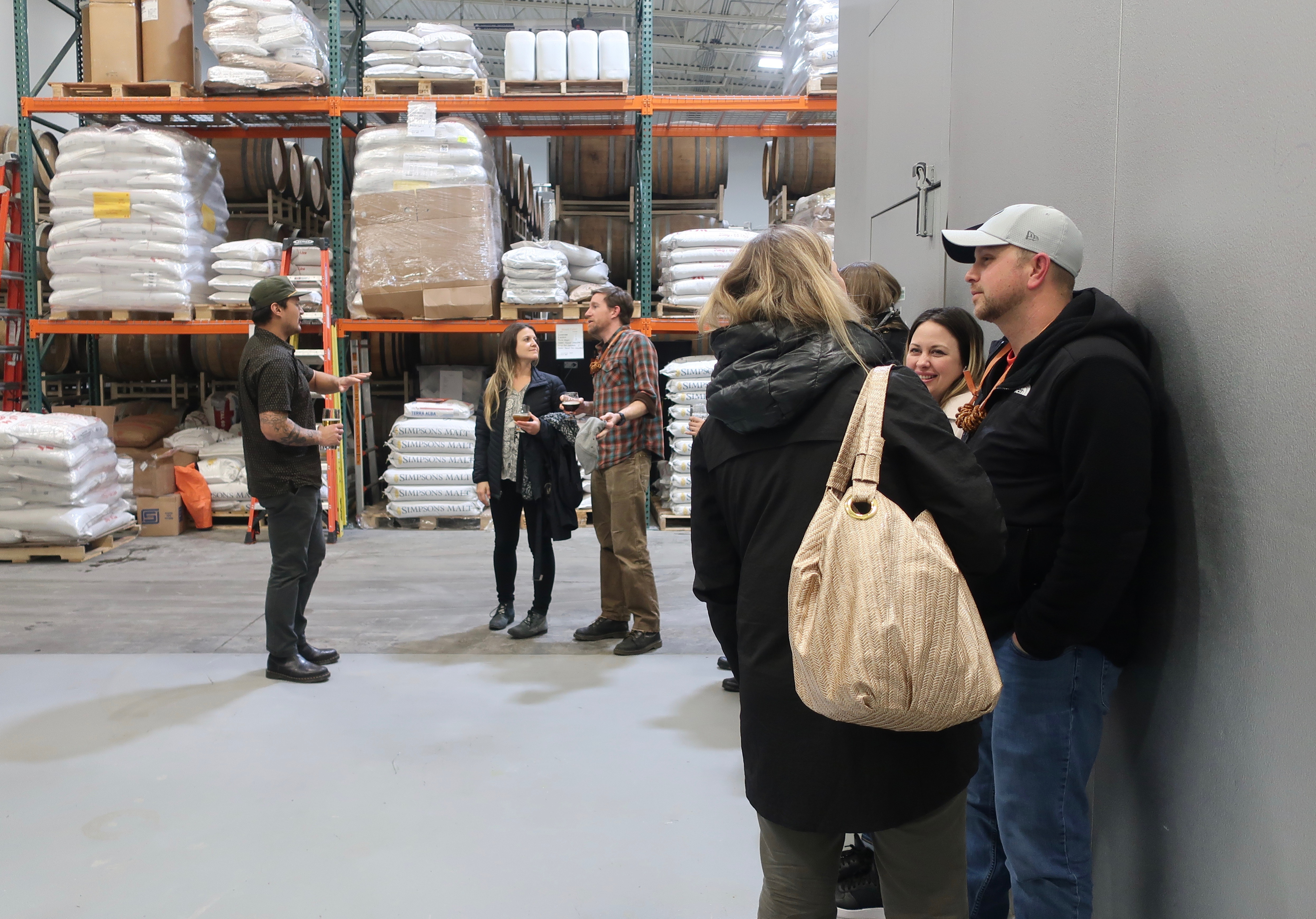 Our brewery tour at pFriem Family Brewers.