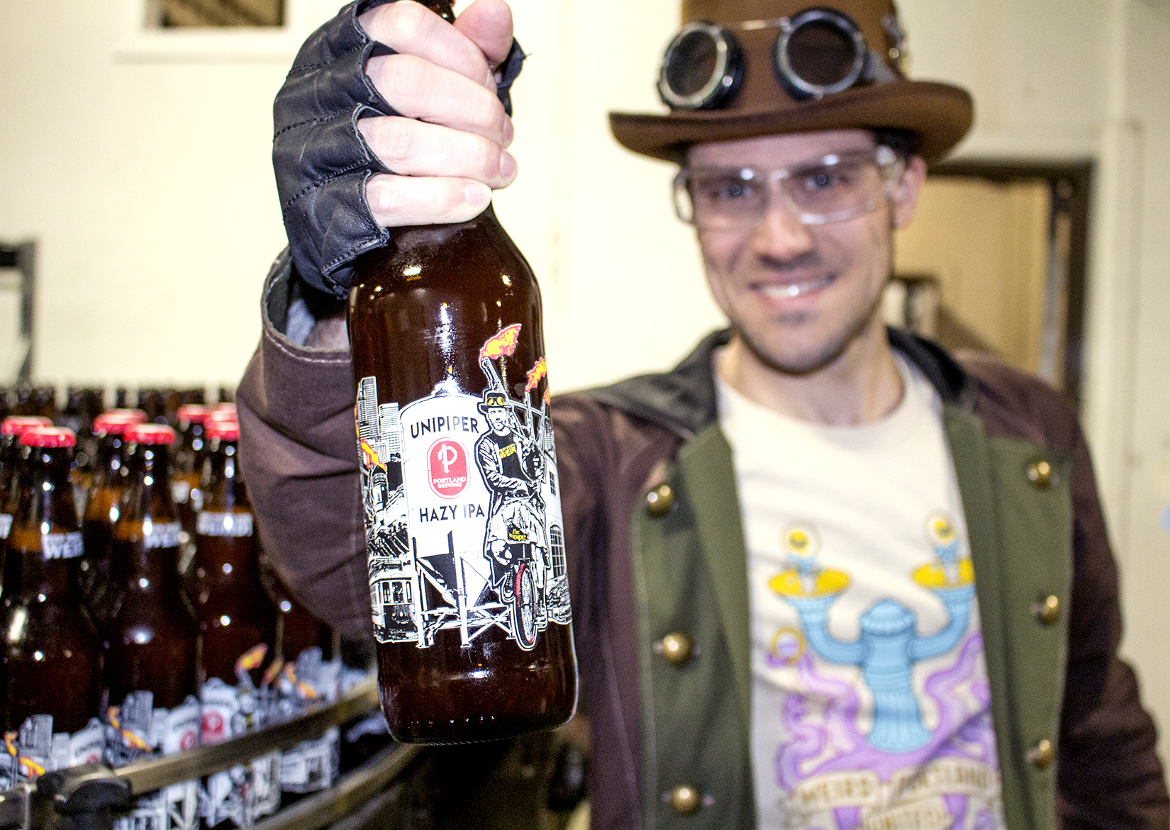 The Unipiper beer close up. (image courtesy of Portland Brewing)