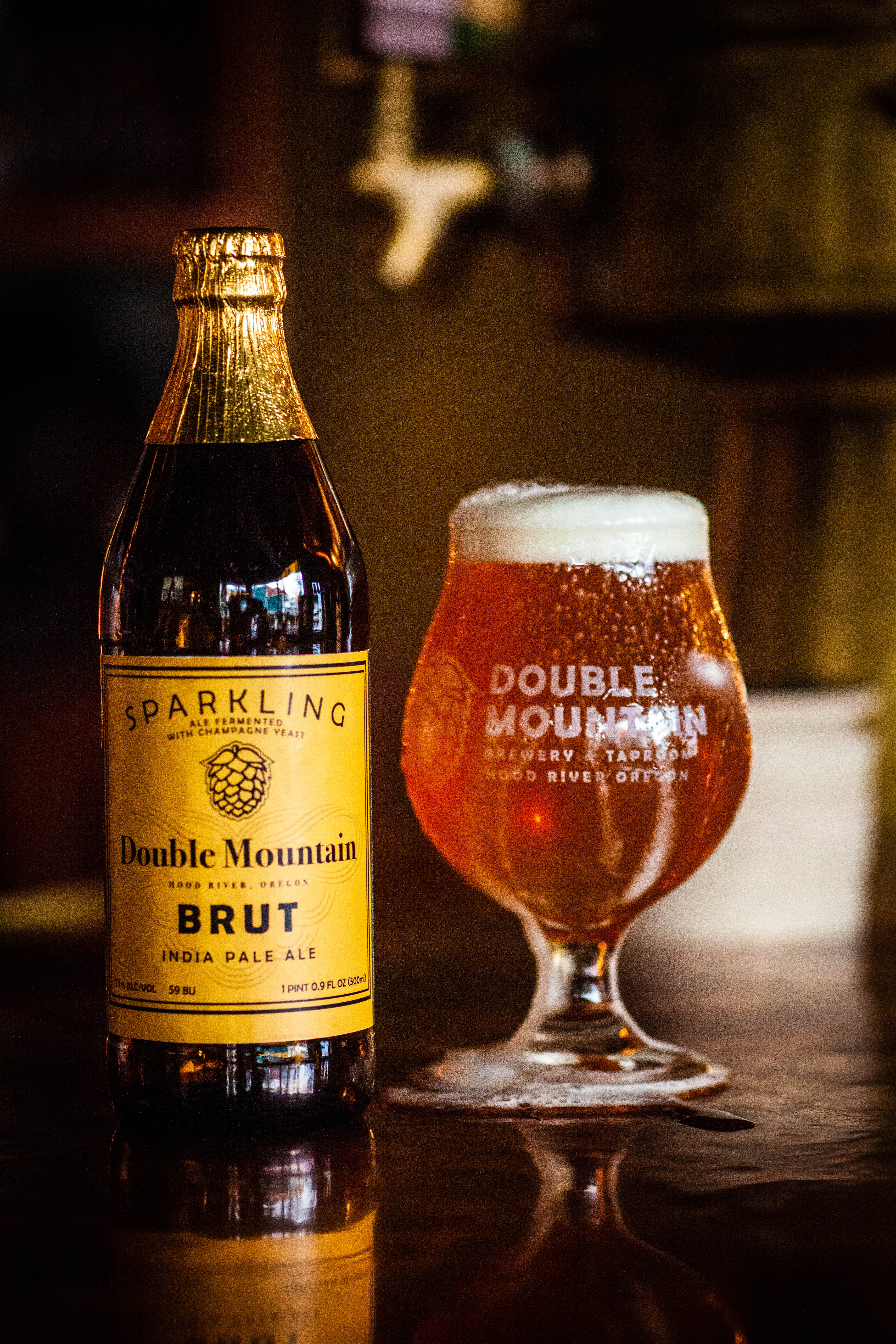 image of BRUT IPA courtesy of Double Mountain Brewery