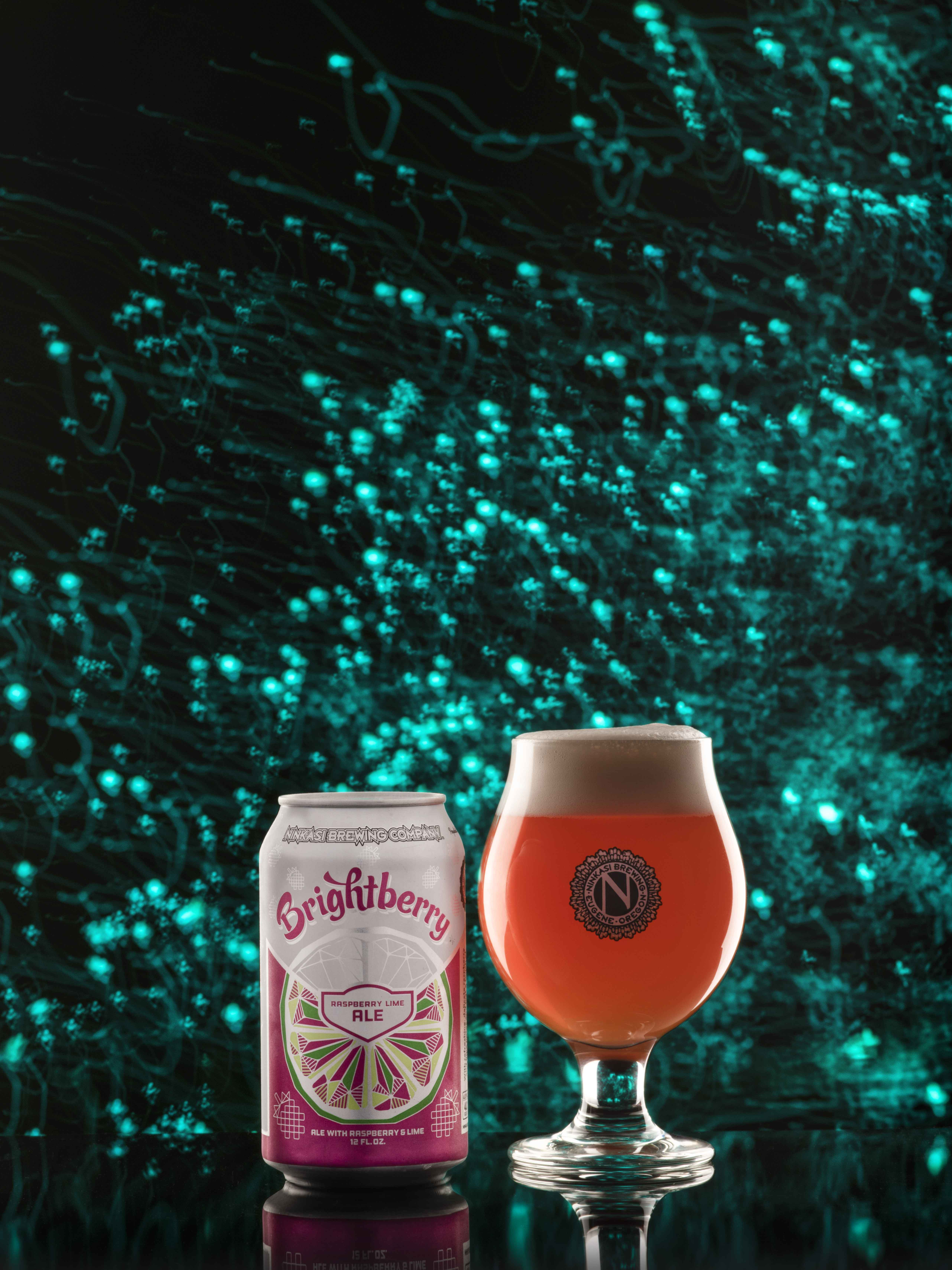 image of Brightberry Raspberry Lime Ale courtesy of Ninkasi Brewing