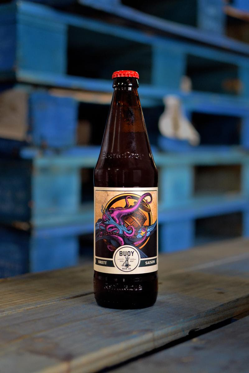 image of Buoy Foeder Series - Brett Saison courtesy of Buoy Beer