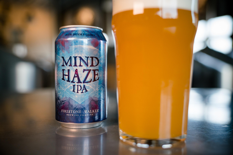 image of Mind Haze IPA courtesy of Firestone Walker Brewing