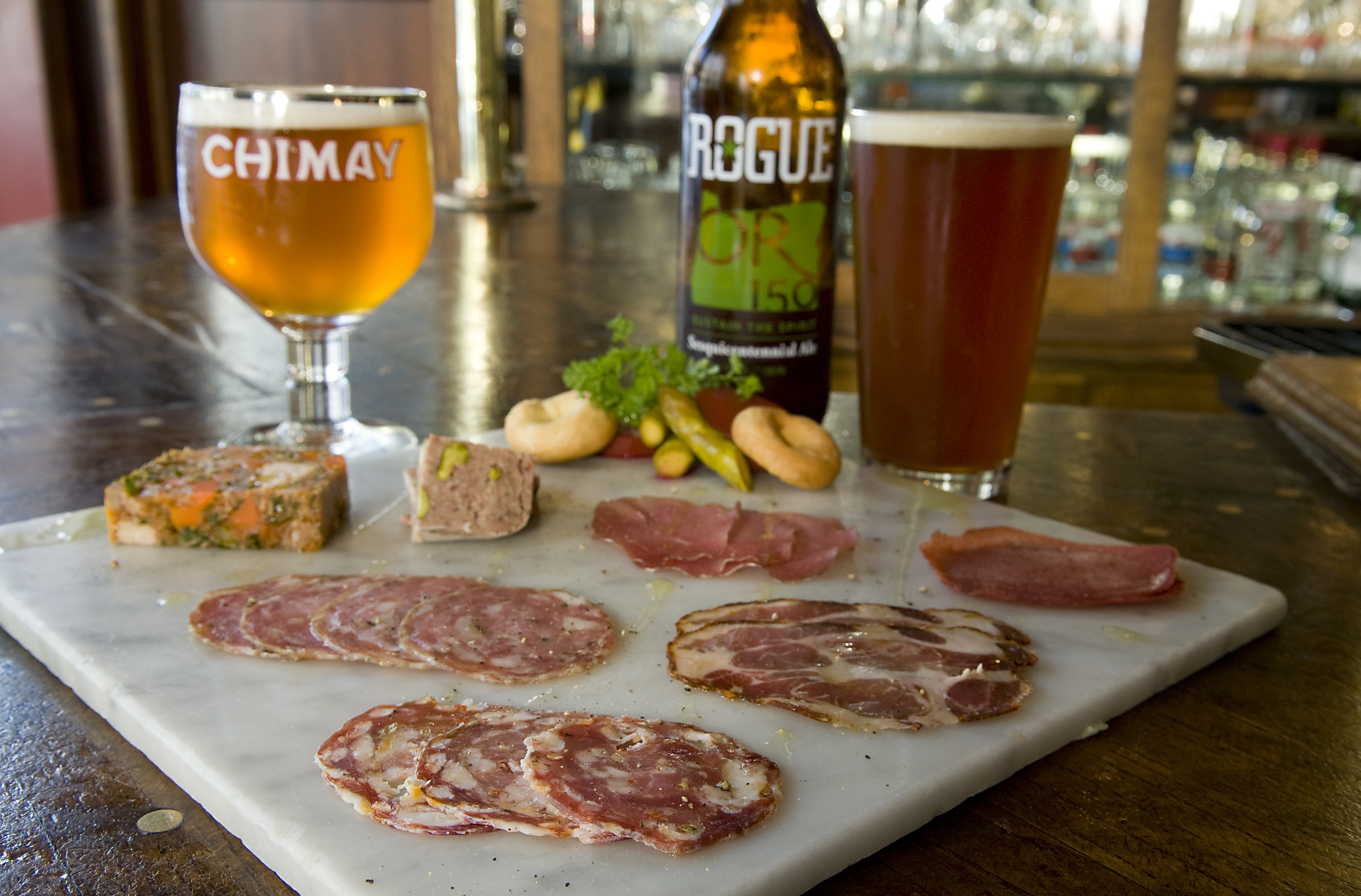 A charcuterie plate at Higgins. (photo courtesy of John Valls)