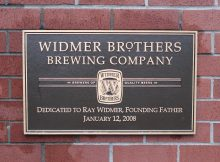 A sign that shows the Rob and Kurt's appreciation of the hard work that their father, Ray Widmer provided for the brewery. The new brewery tours will emphasis the importance Ray had at the brewery.