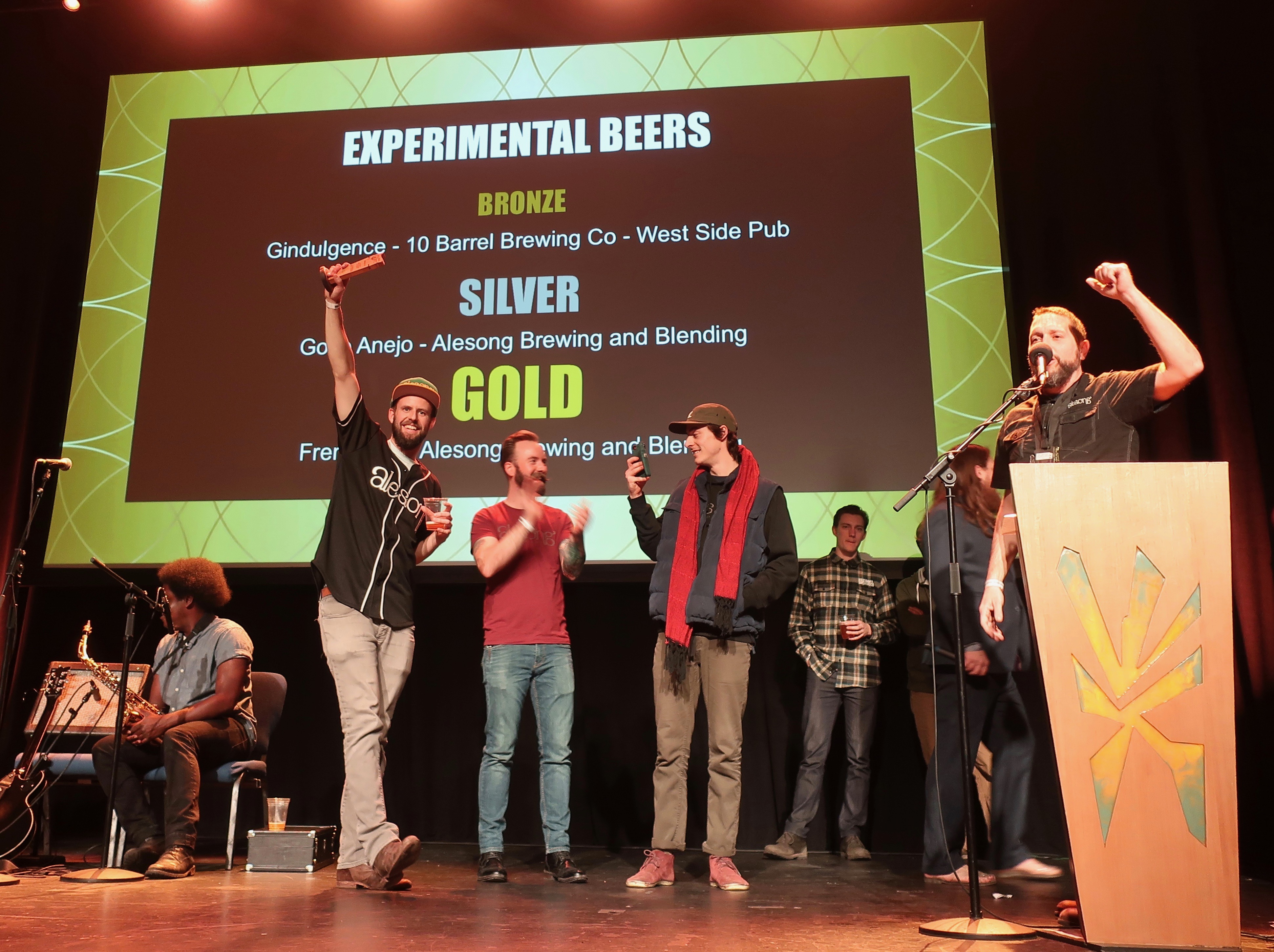 Alesong Brewing & Blending on stage during the 2019 Oregon Beer Awards.