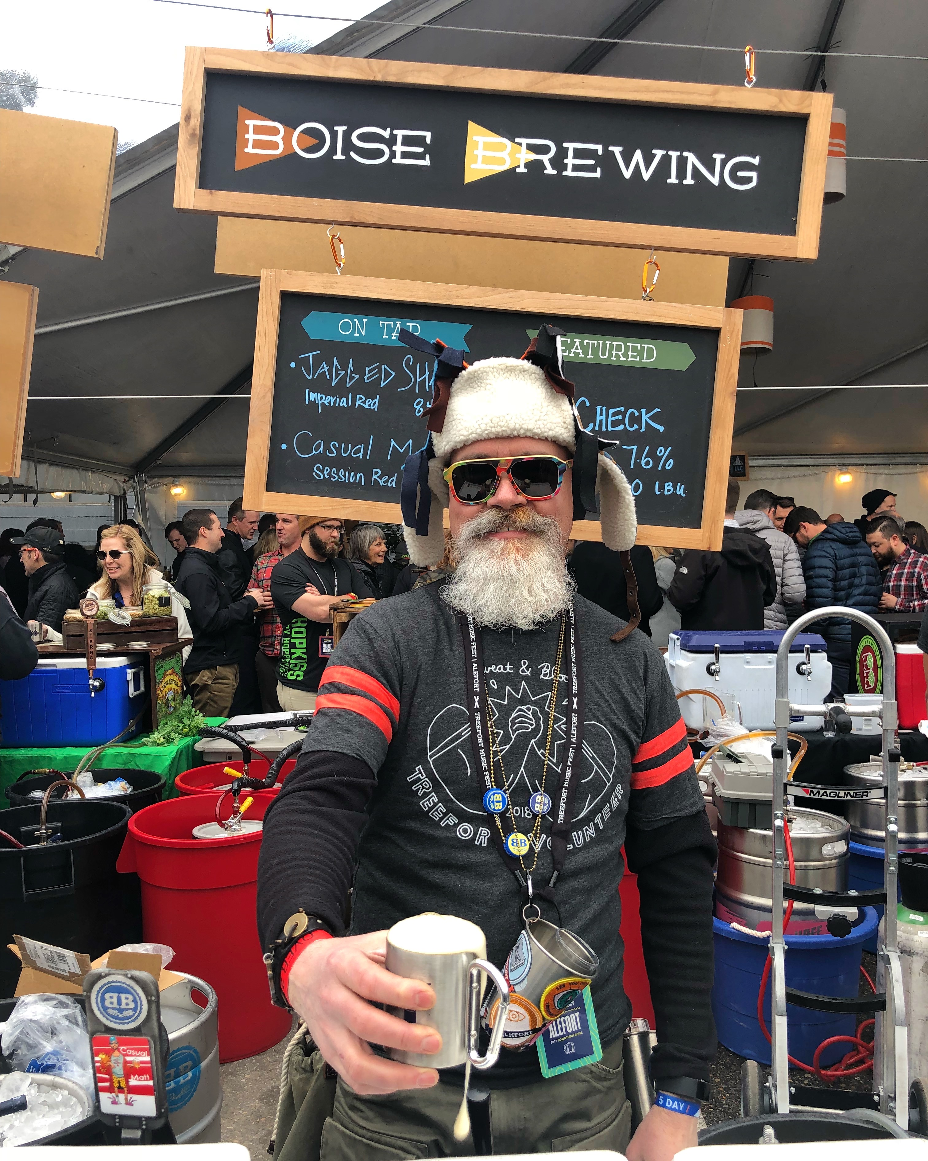 Boise Brewing was serving during the 2018 Alefort.
