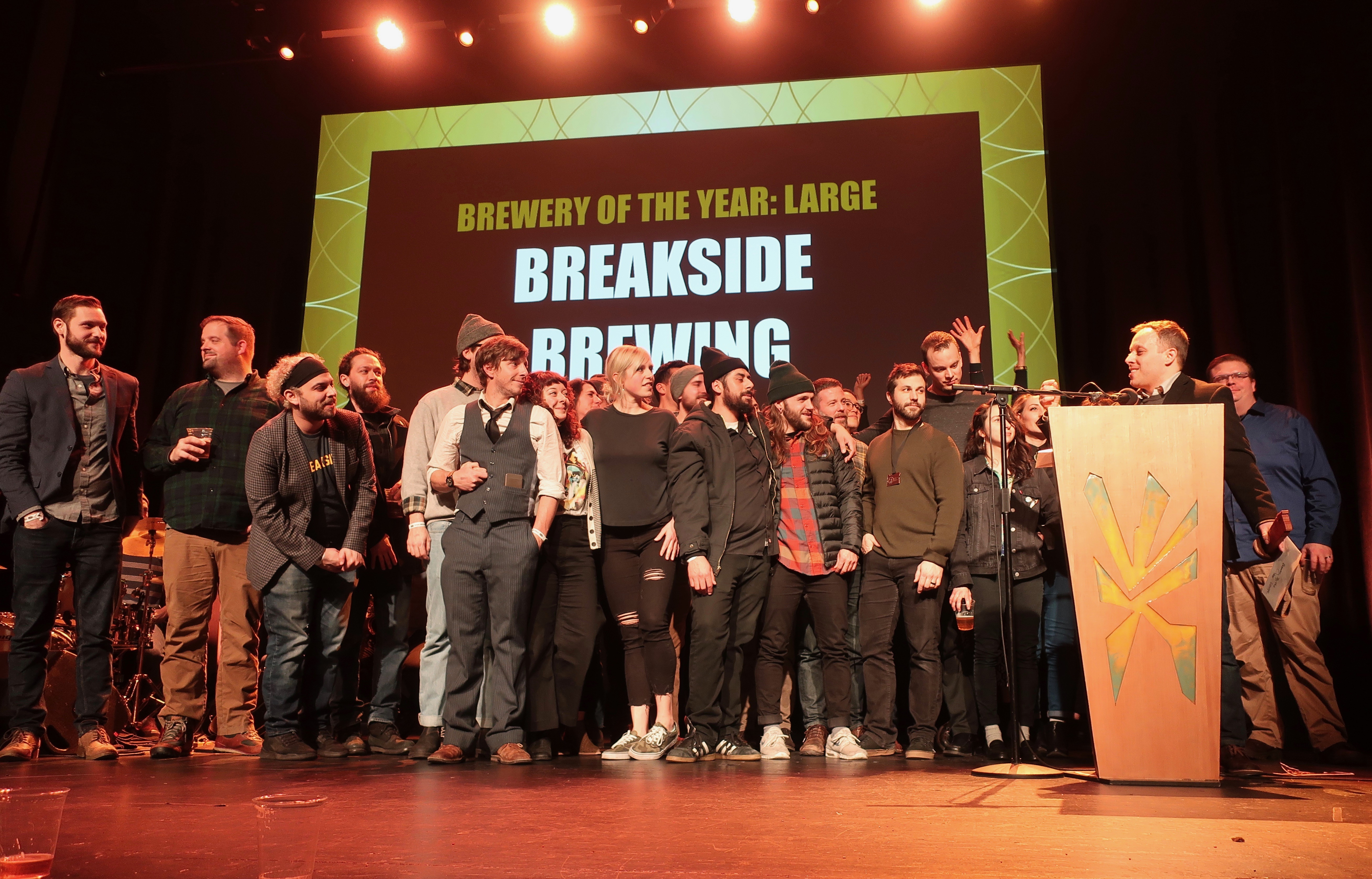 Breakside Brewery wins Brewery of the Year - Large at the 2019 Oregon Beer Awards.
