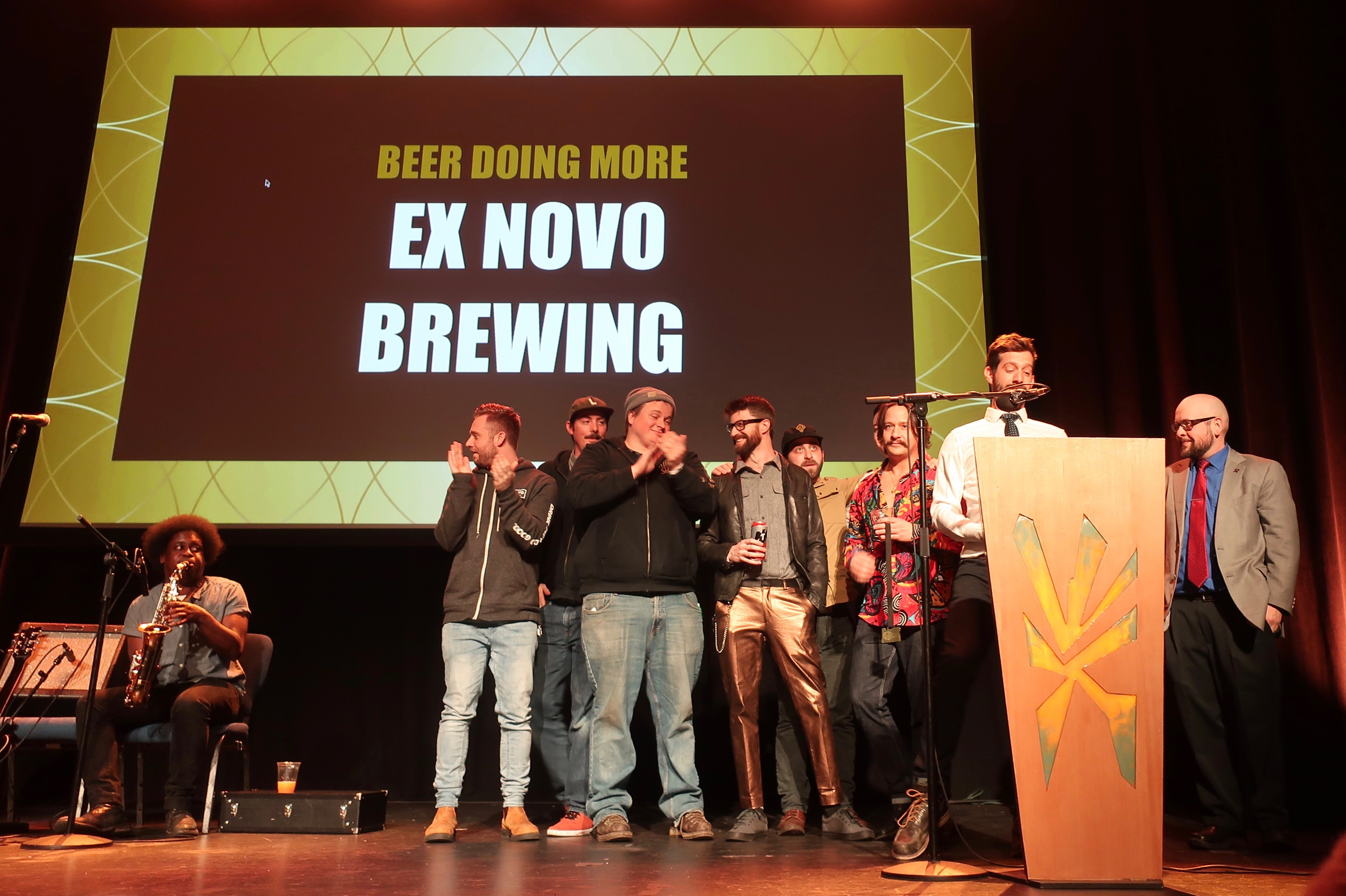 Ex Novo Brewing won the Beer Doing More award at the 2019 Oregon Beer Awards.