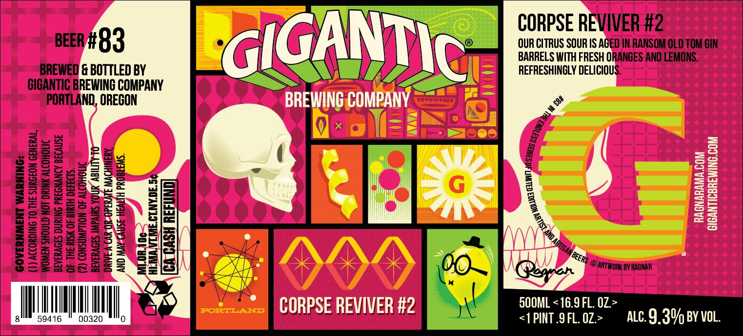 Gigantic Brewing Corpse Reviver #2 Cocktail Beer