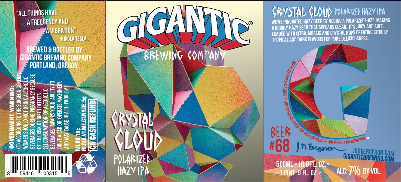 Gigantic Brewing Crystal Cloud Polarized Hazy IPA