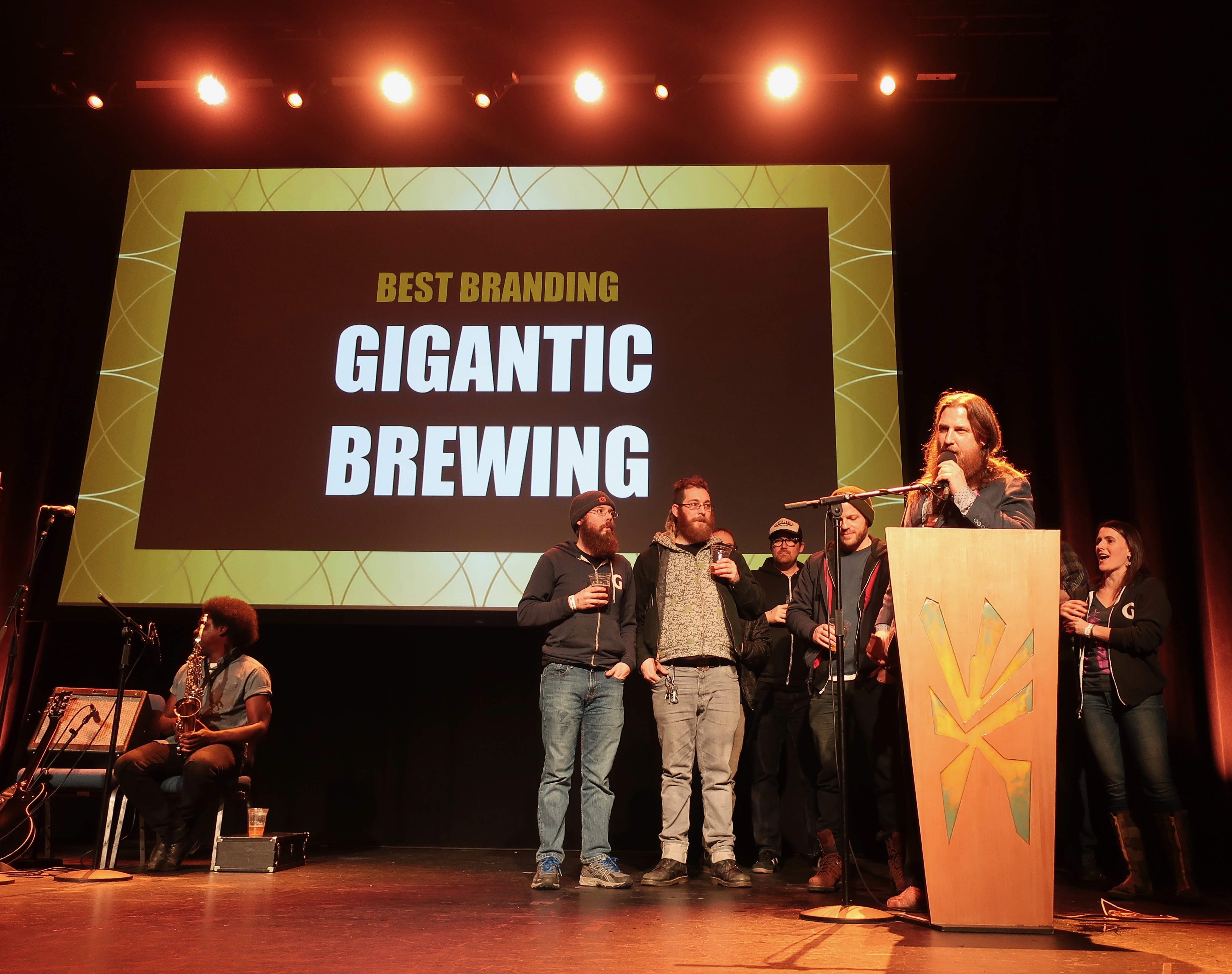 Gigantic Brewing wins Best Branding at the 2019 Oregon Beer Awards.