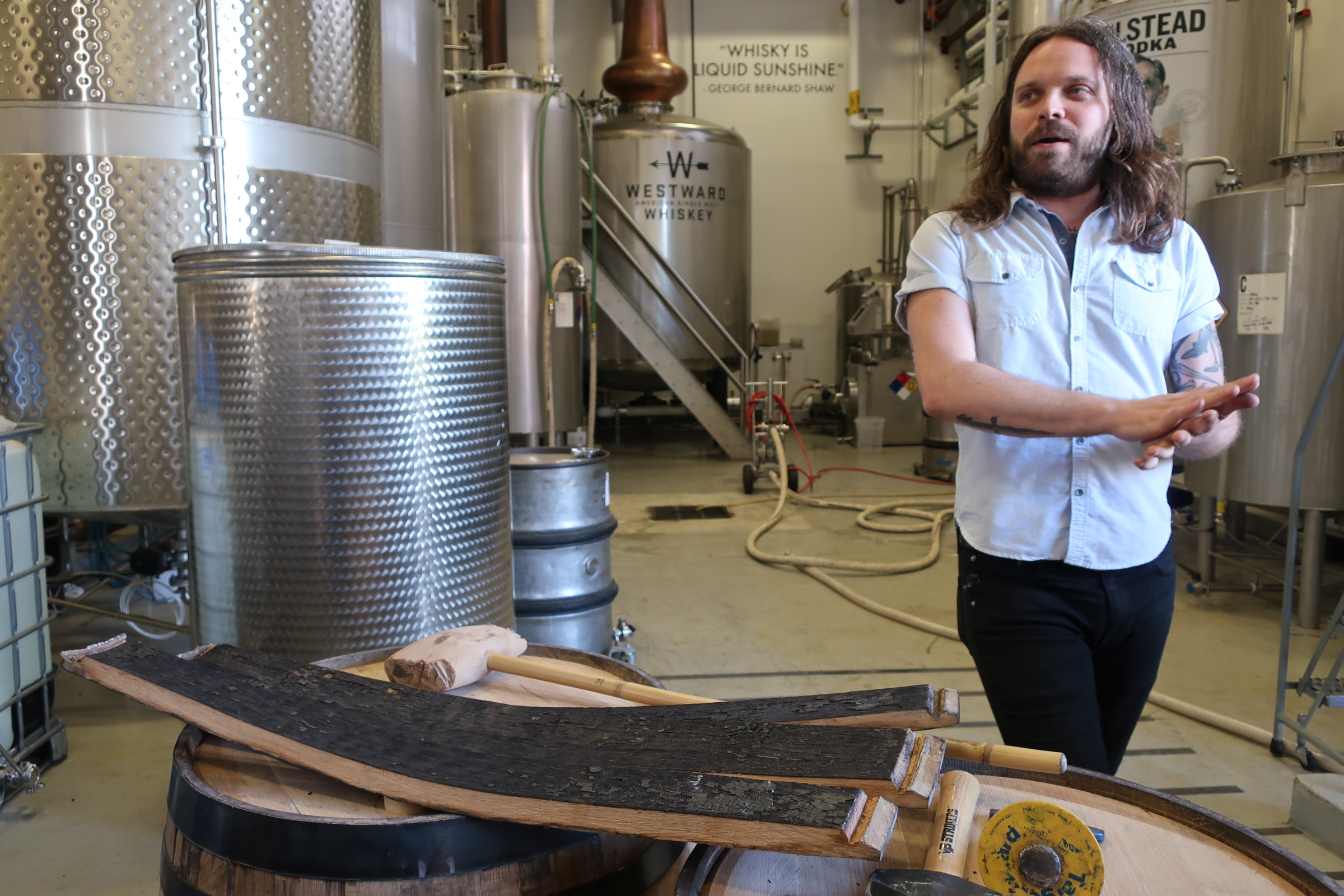 Miles Munroe discusses the differences in char when it comes to whiskey at Westward Whiskey.