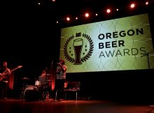 The 2019 Oregon Beer Awards house band, Bitches of the Sun.