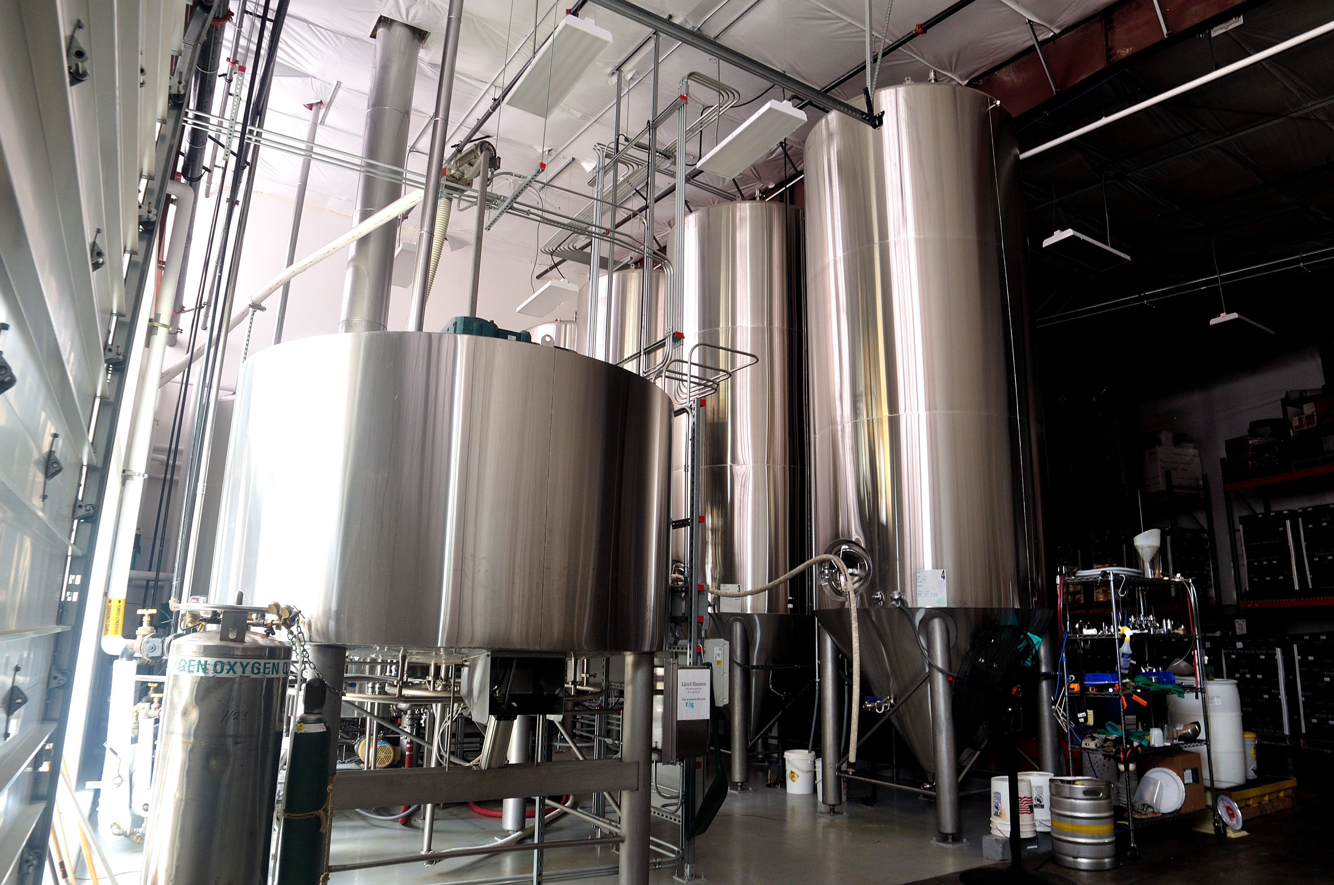 The 35-barrel brewery inside House Spirits that brews the whiskey wash for Westward Whiskey. (image courtesy of House Spirits)