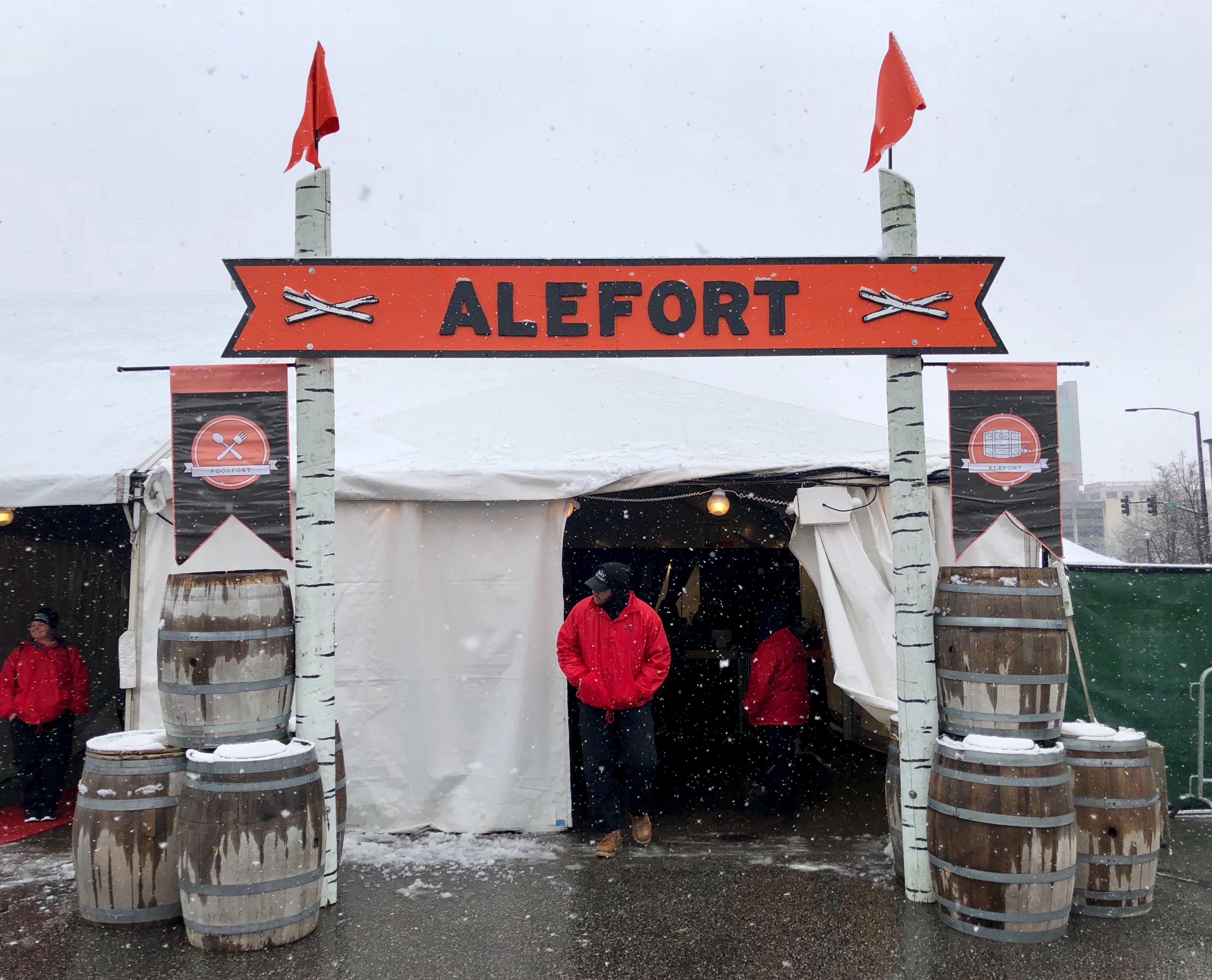 The final day of Alefort saw some snow before the sun came out and melted it all.