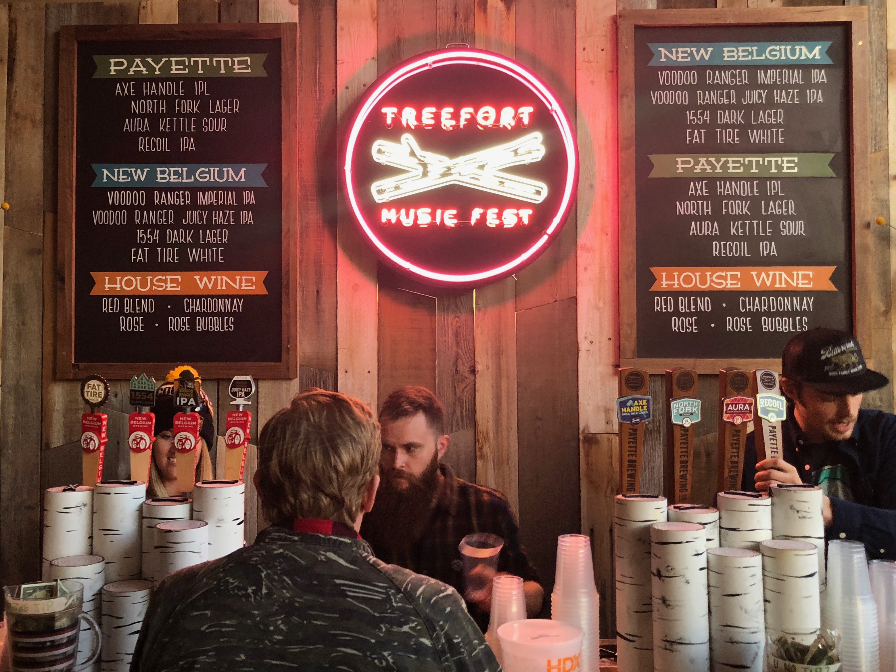 The mainstage at Treefort served a selection of Idaho and Colorado craft beer.