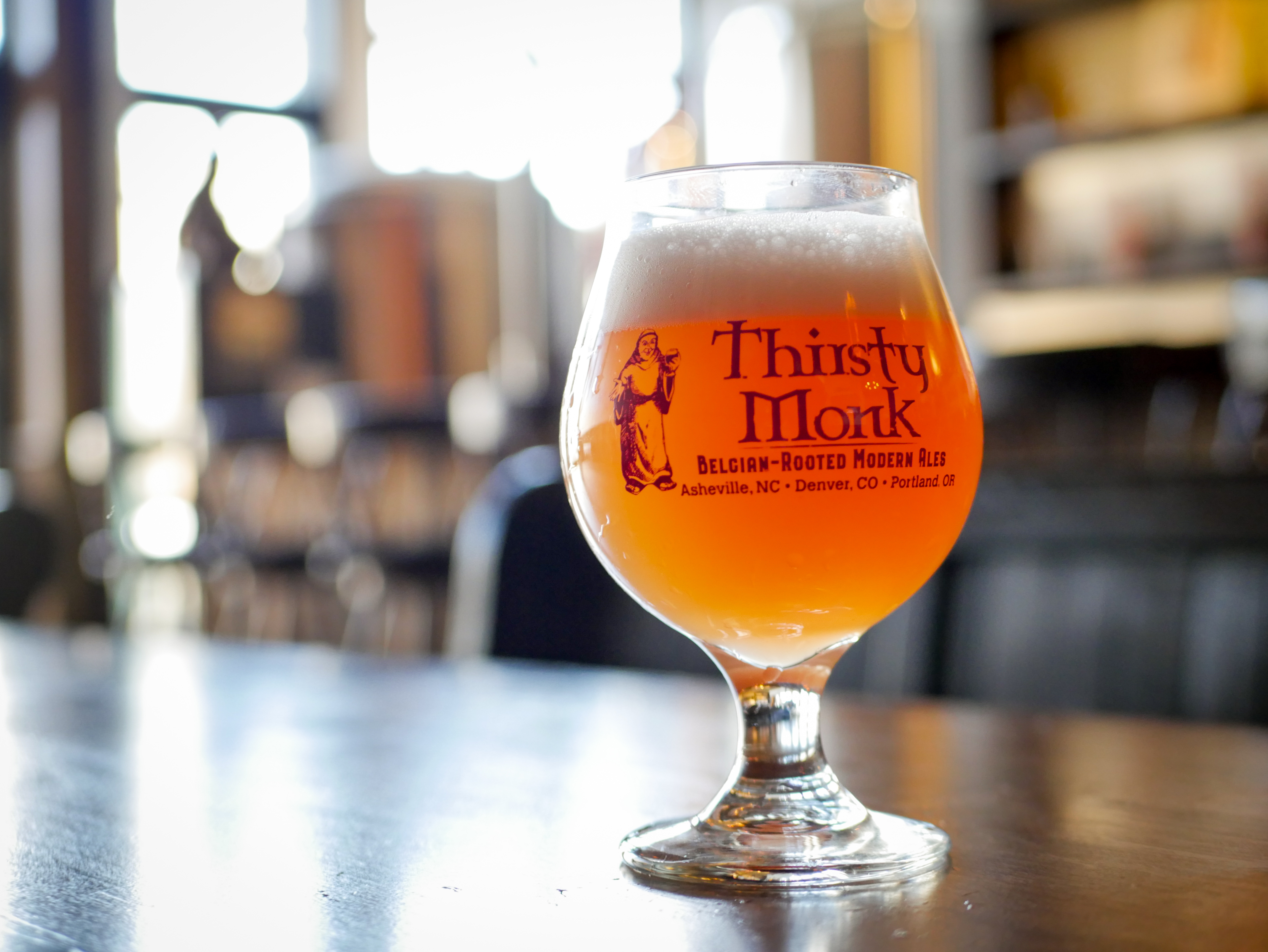 Thirsty Monk and CrookedStave collaboraton beer, Brett Brut Rose IPA.