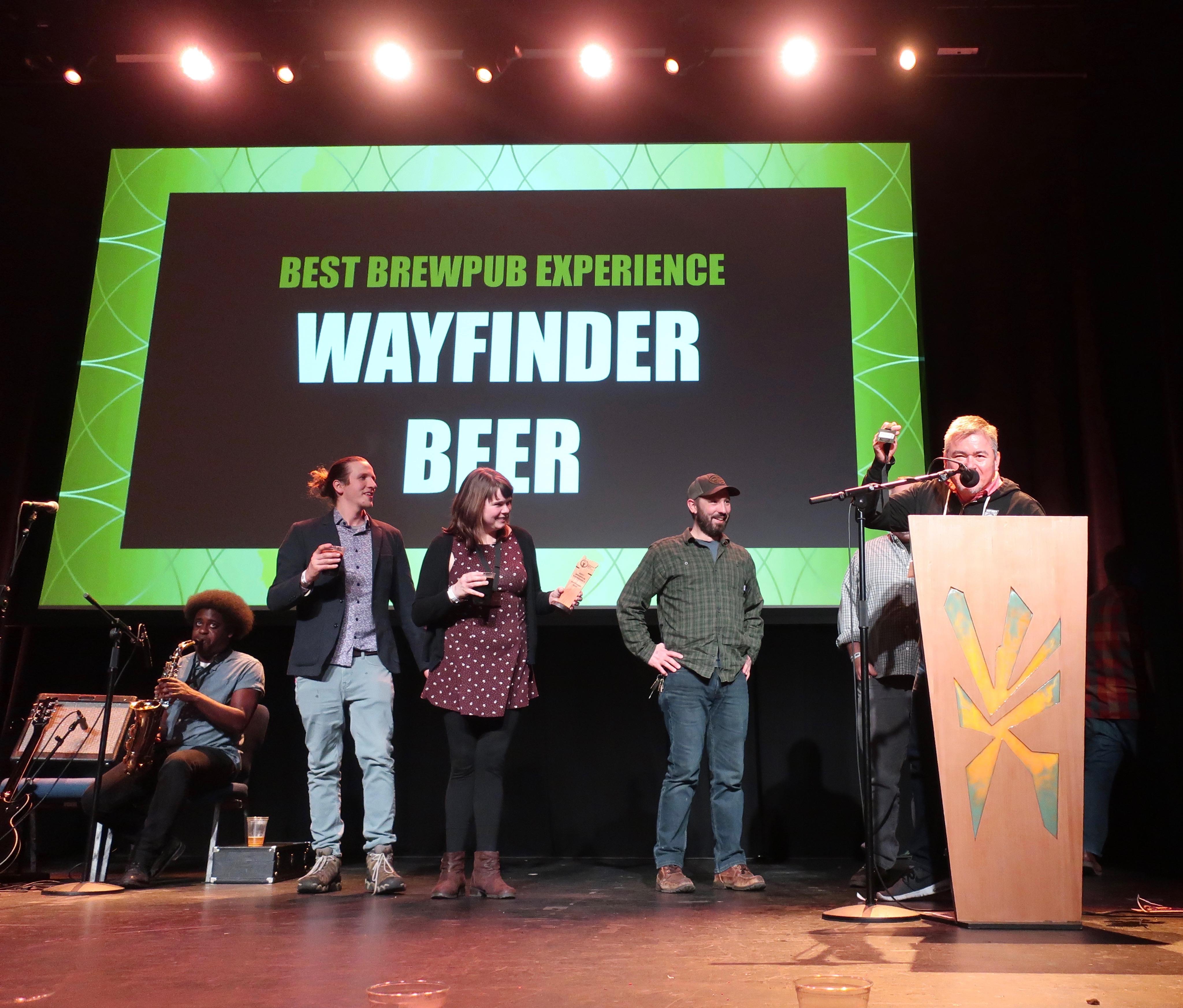 Wayfinder Beer wins Best Brewpub Experience at the 2019 Oregon Beer Awards.