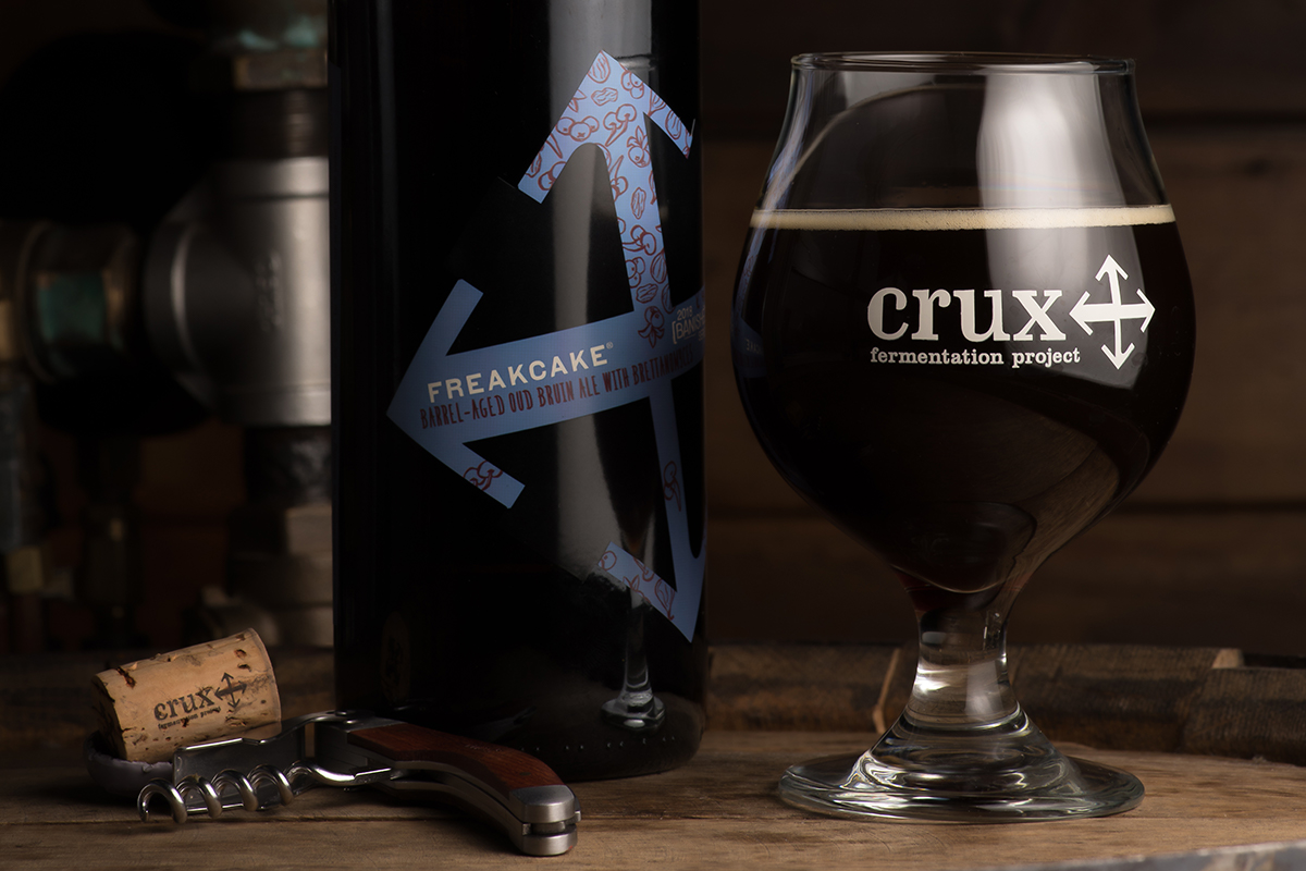 image of [BANISHED] Freakcake Barrel-Aged Oud Bruin courtesy of Crux Fermentation Project