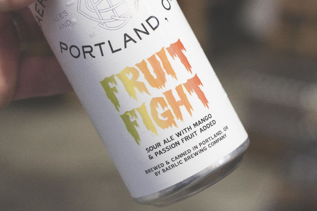 image of Fruit Fight Mango & Passion Fruit Sour courtesy of Baerlic Brewing
