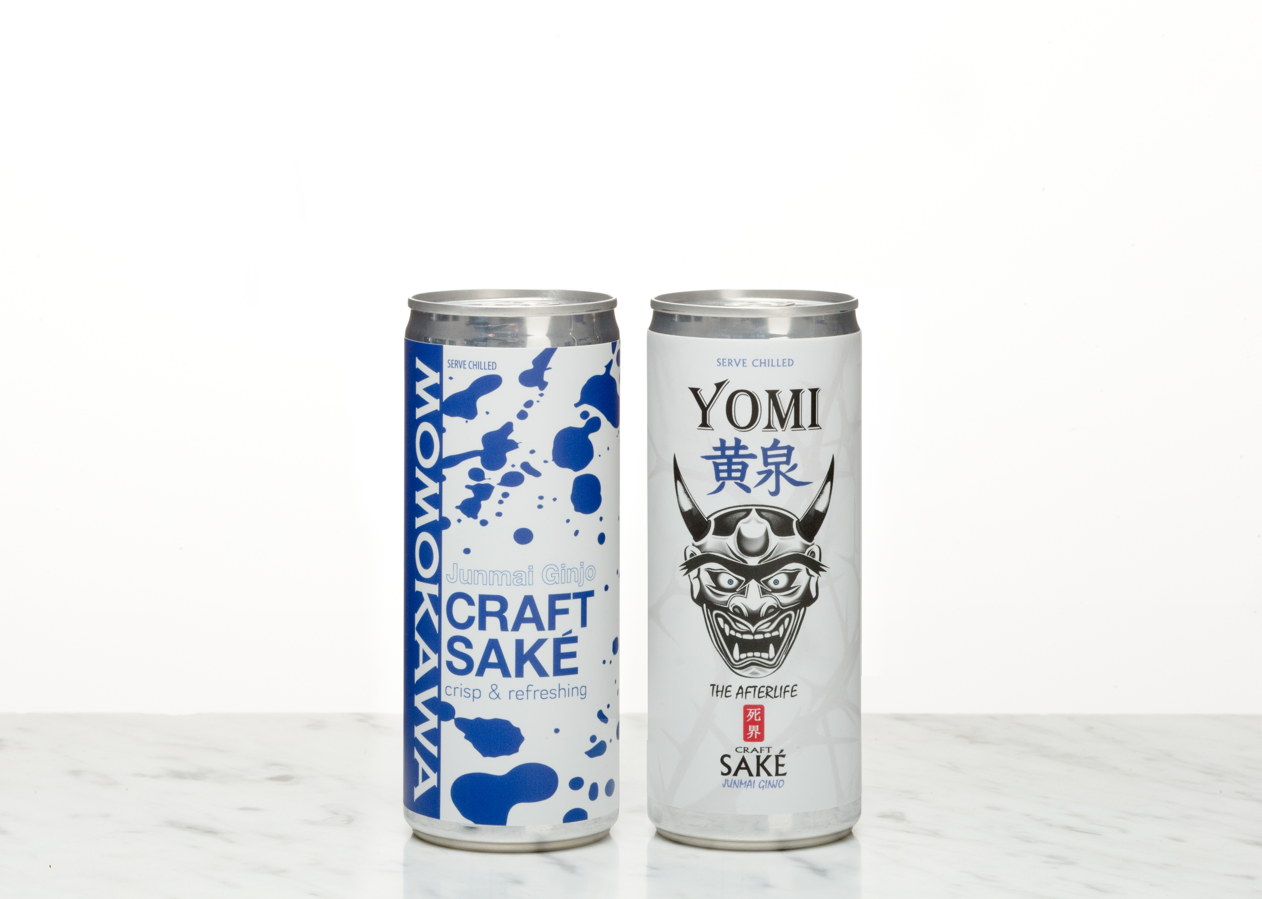 image of Momo and Yomi canned sake courtesy of Sake One