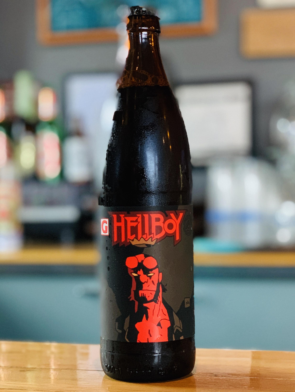 image of bottle of Hellboy courtesy of Gigantic Brewing