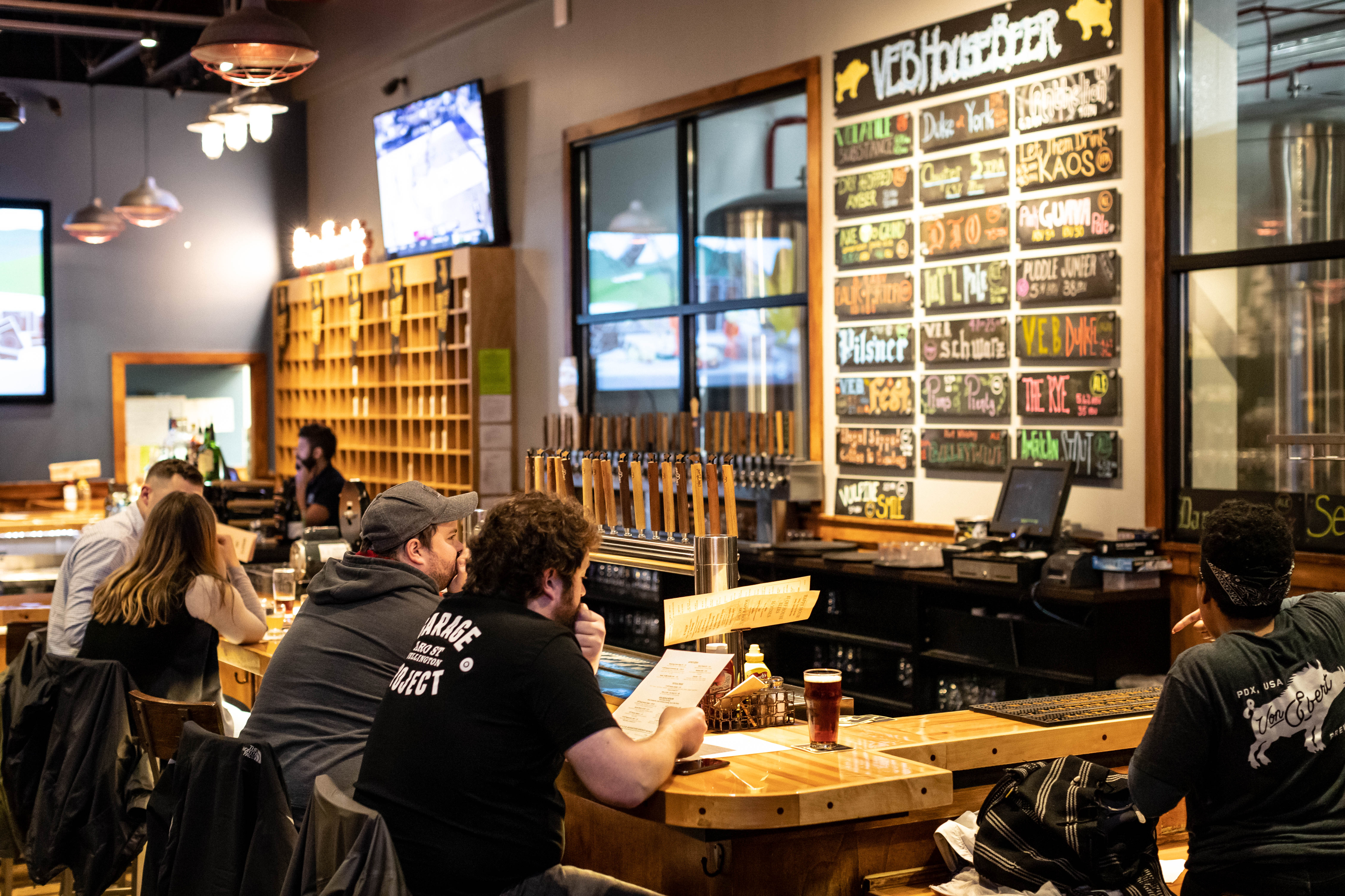 Inside the bar area at Von Ebert Brewing located in the Pearl District. (image courtesy of Von Ebert Brewing)