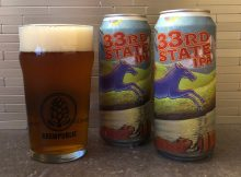 McMenamins new 33rd State IPA, a Northwest style IPA is now available in 16oz cans.