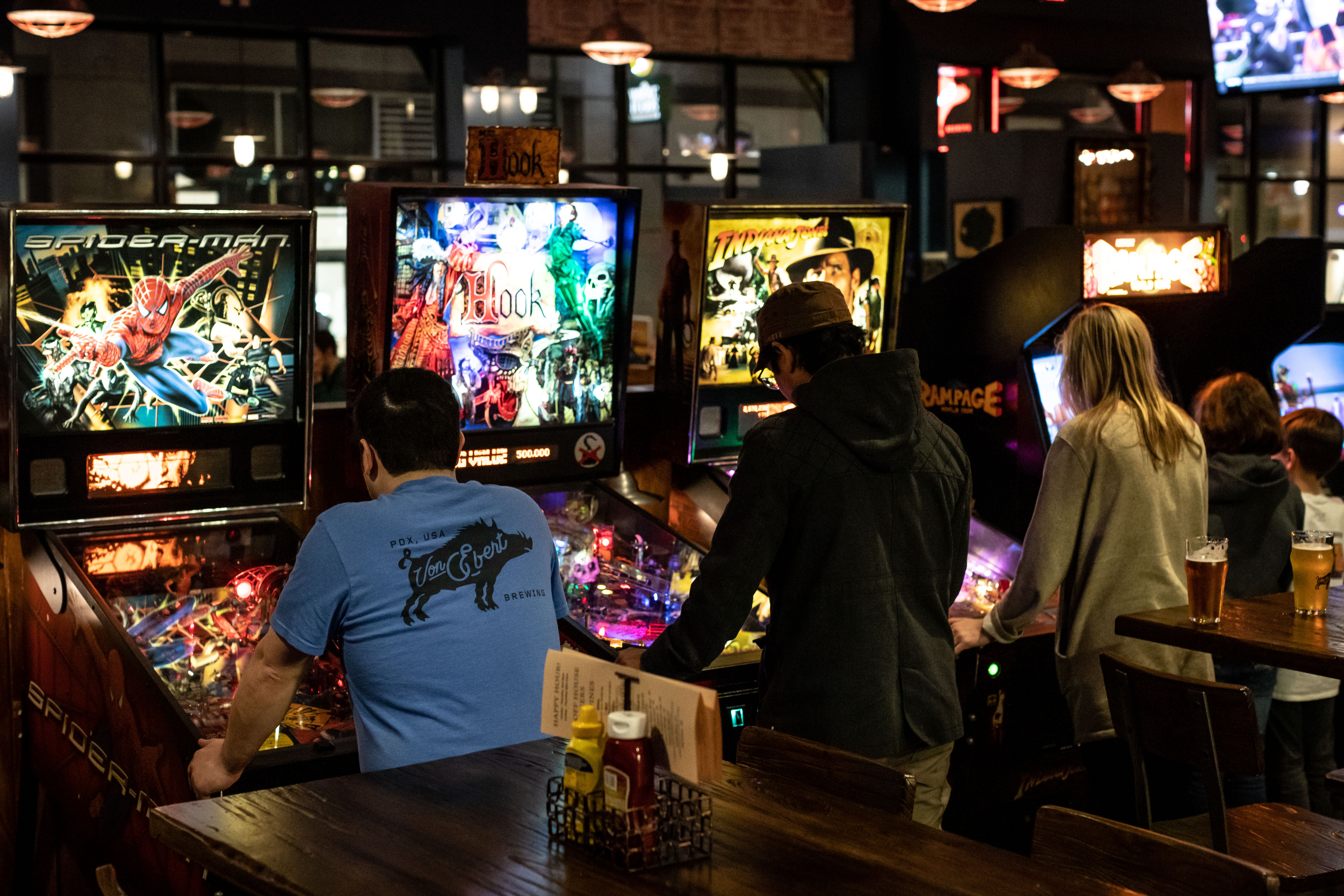 New video games and pinball have been added to Von Ebert Brewing in the Pearl District. (image courtesy of Von Ebert Brewing)