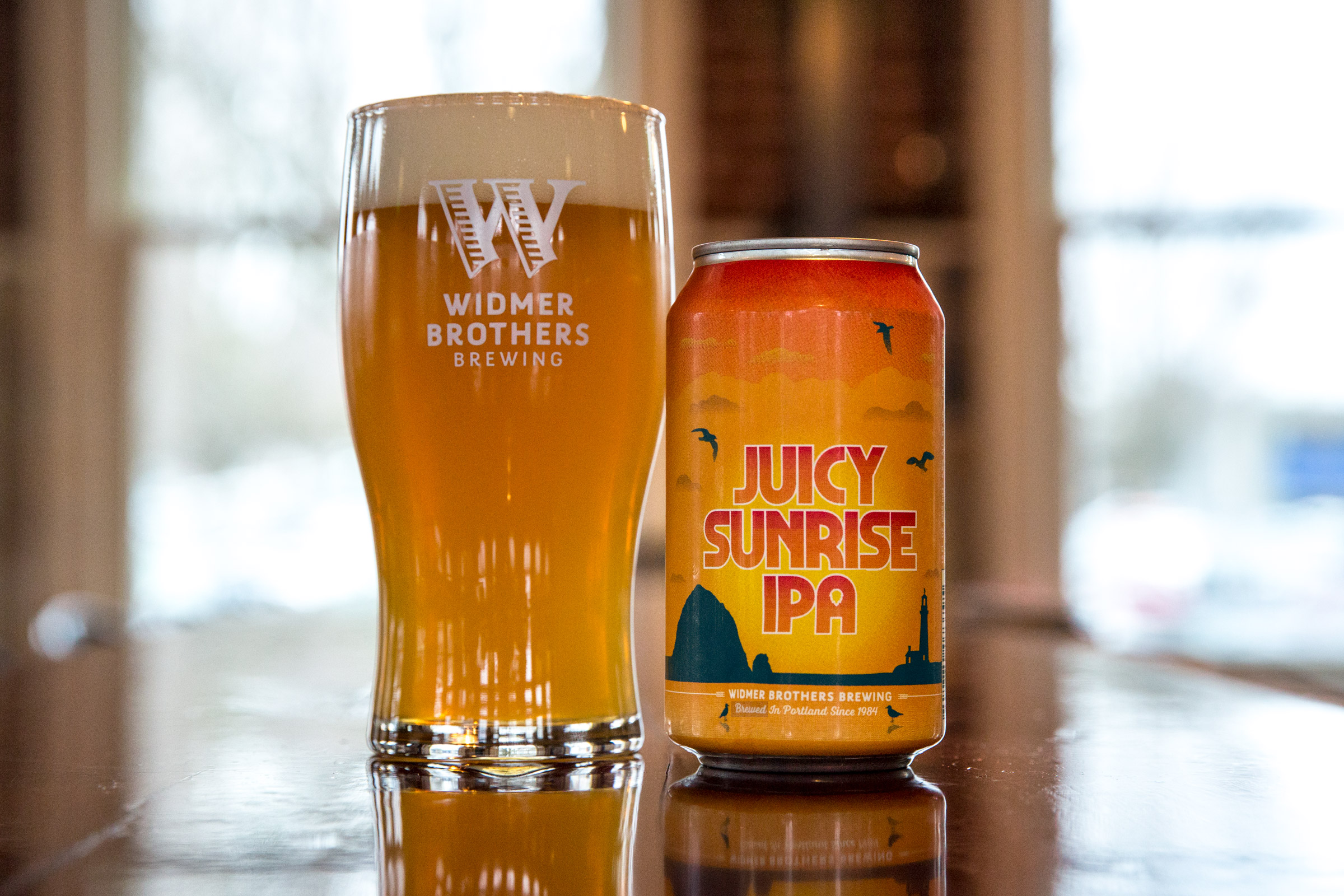 image of Juicy Sunrise IPA courtesy of Widmer Brothers Brewing