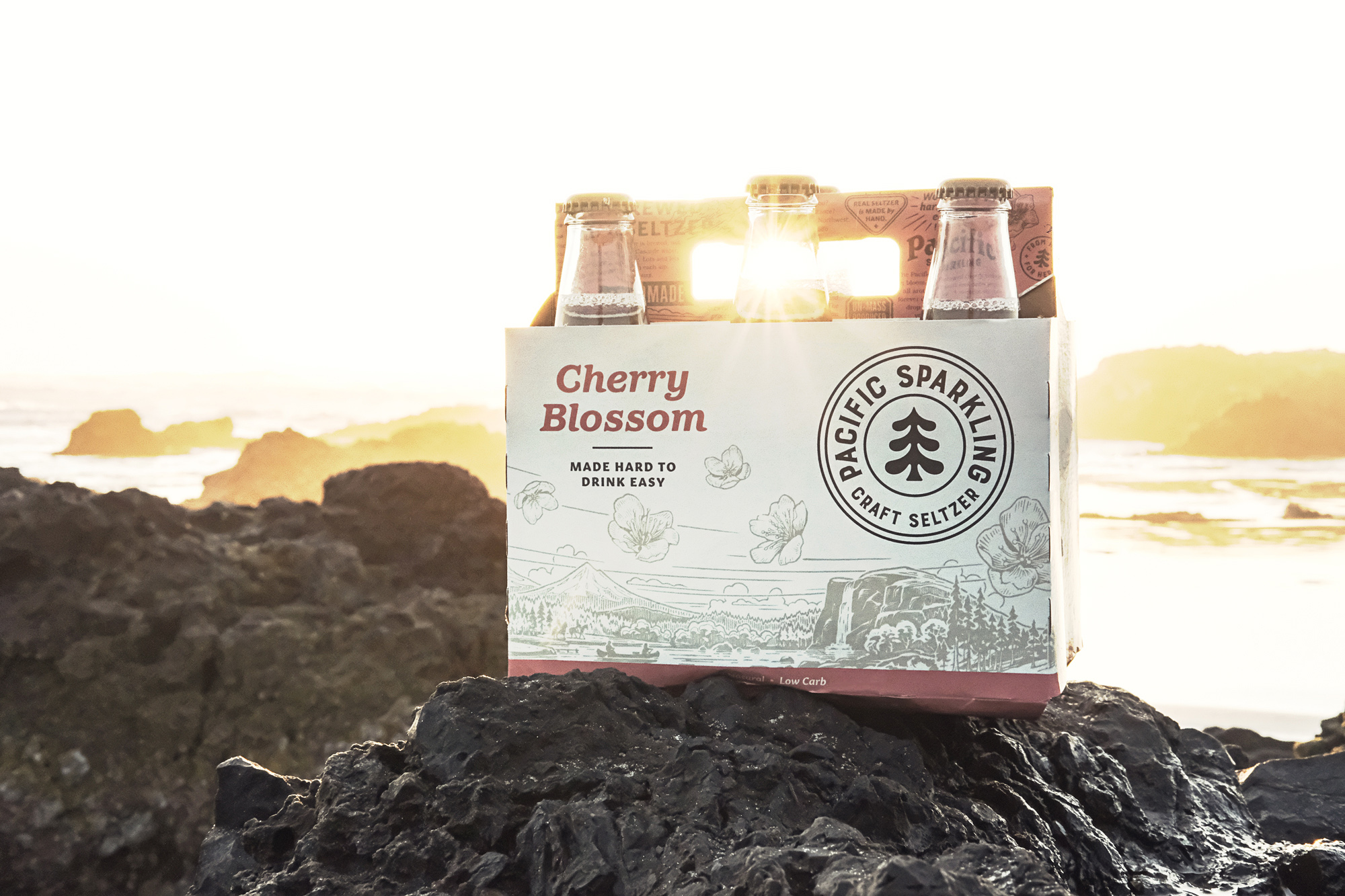 image of Pacific Sparkling Cherry Blossom courtesy of Pacific Sparkling/Ninkasi Brewing