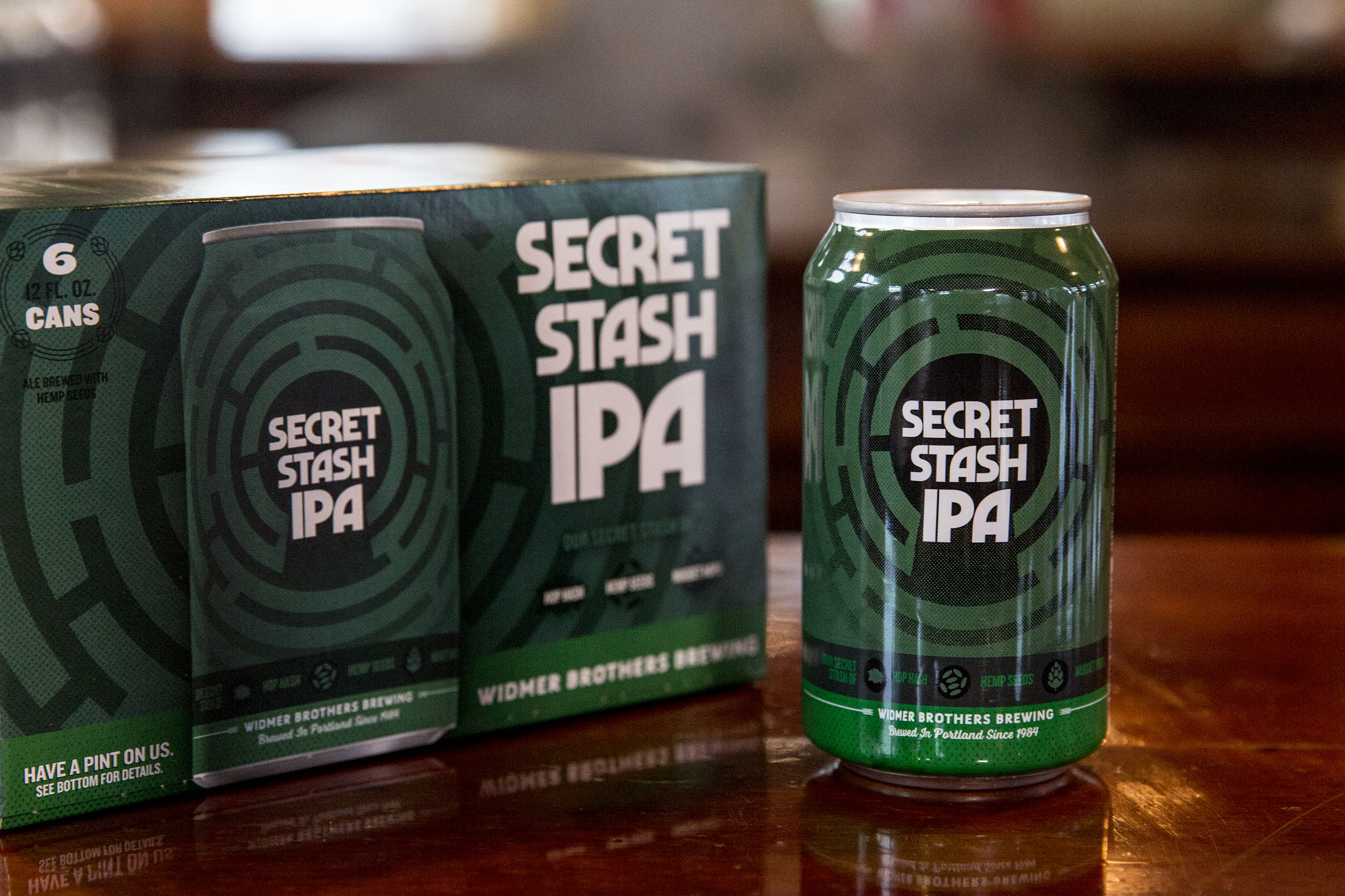 image of Secret Stash IPA courtesy of Widmer Brothers Brewing