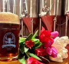 image of a liter and tulips courtesy of Chuckanut Brewery