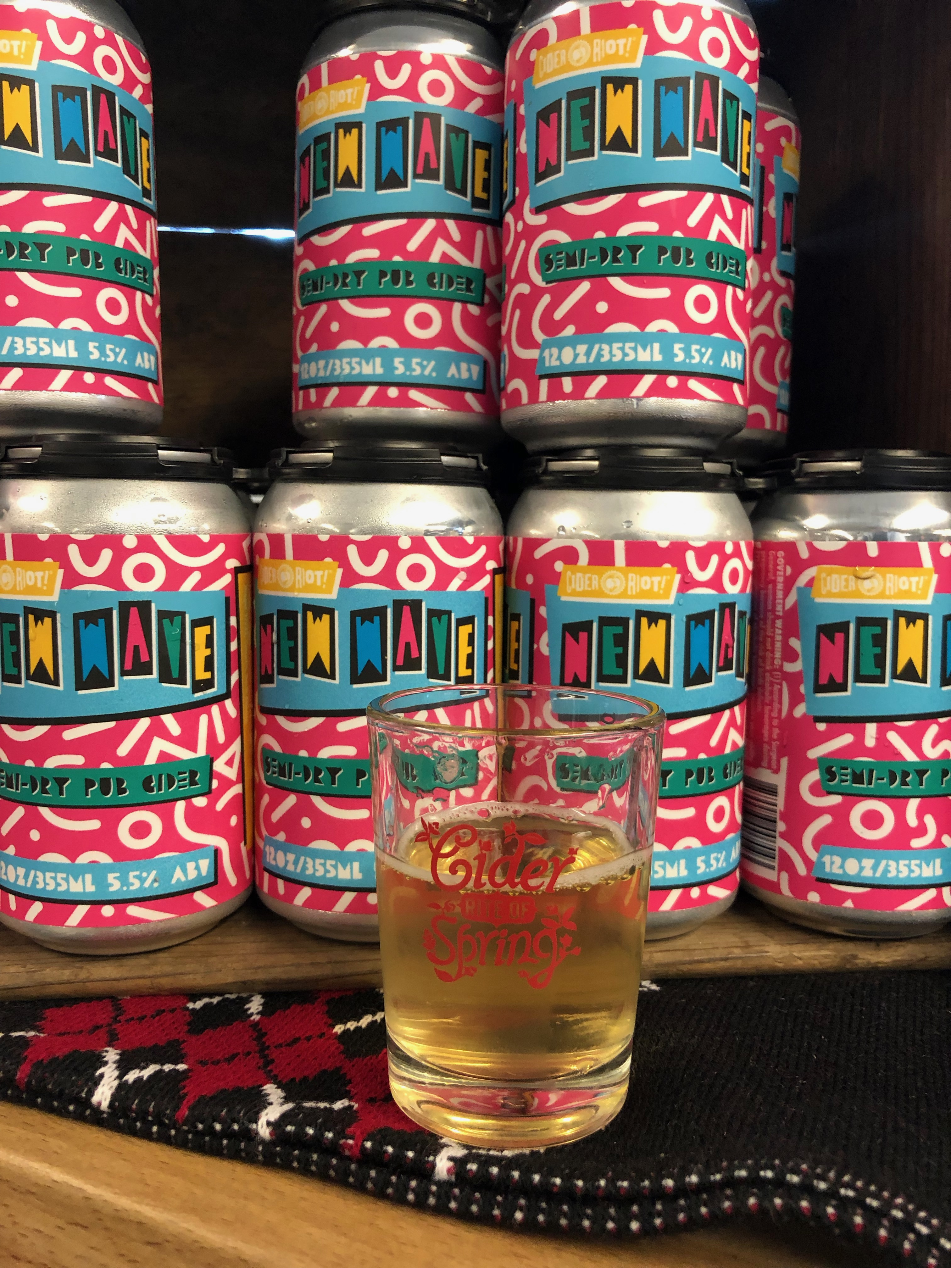 Cider Riot! recently released New Wave Semi-Dry Pub Cider in 12 ounce cans.