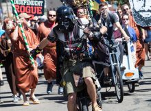 The Unipiper will be the Grand Marshal of the 2019 Oregon Brewers Parade that will lead festival attendees to the 2019 Oregon Brewers Festival. (image courtesy of the Oregon Brewers Festival)
