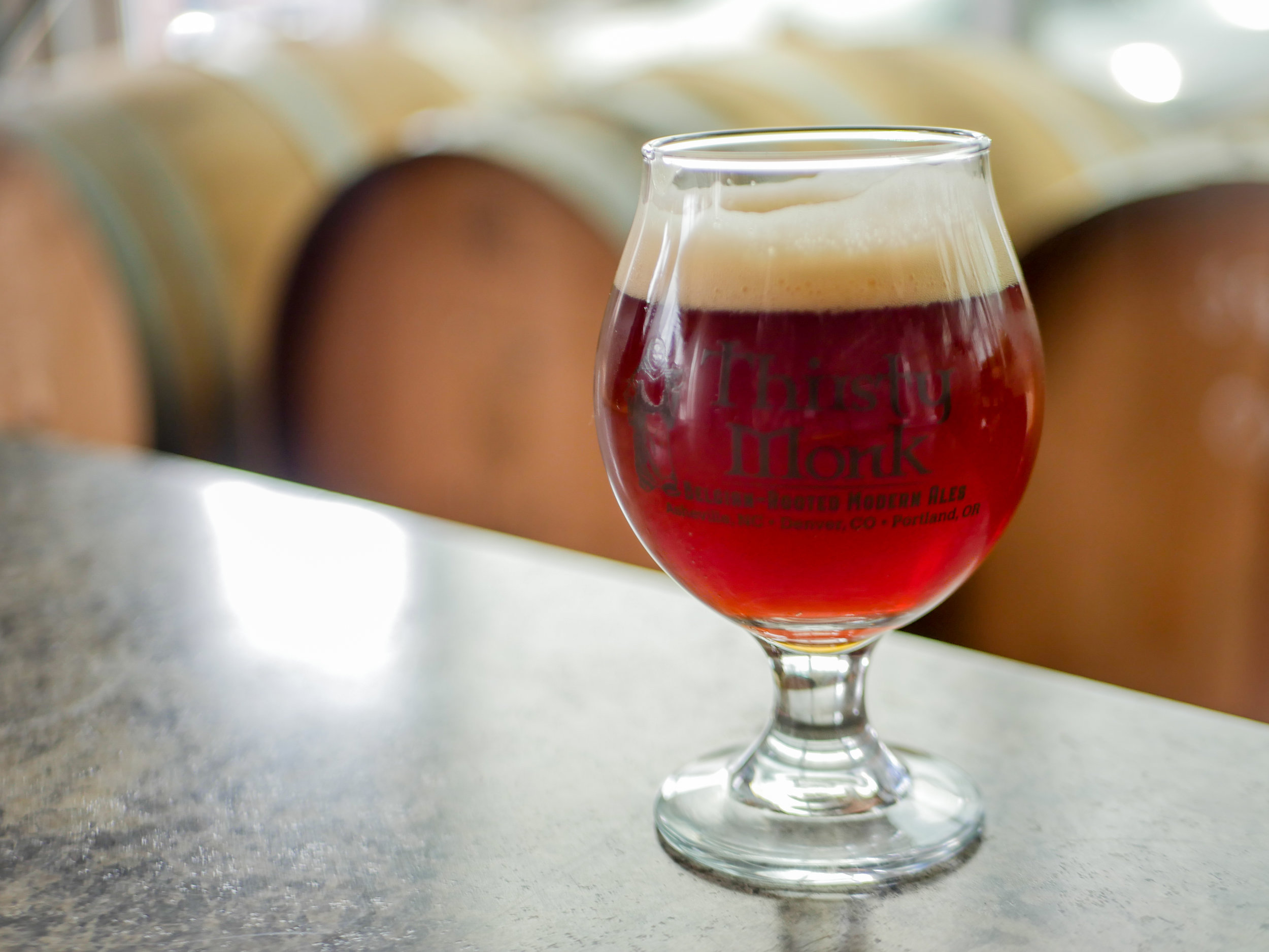 image of Grace Sour Blend, a Collaboration with Thirsty Monk and Crooked Stave courtesy of Thirsty Monk