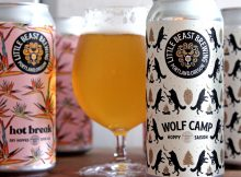 image of Little Beast Brewing Wolf Camp Hoppy Saison + Hot Break Dry-Hopped Sour Ale courtesy of Little Beast Brewing
