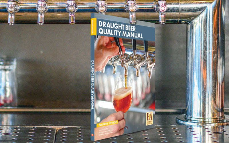 image of the Draught Beer Quality Manual book courtesy of the Brewers Association