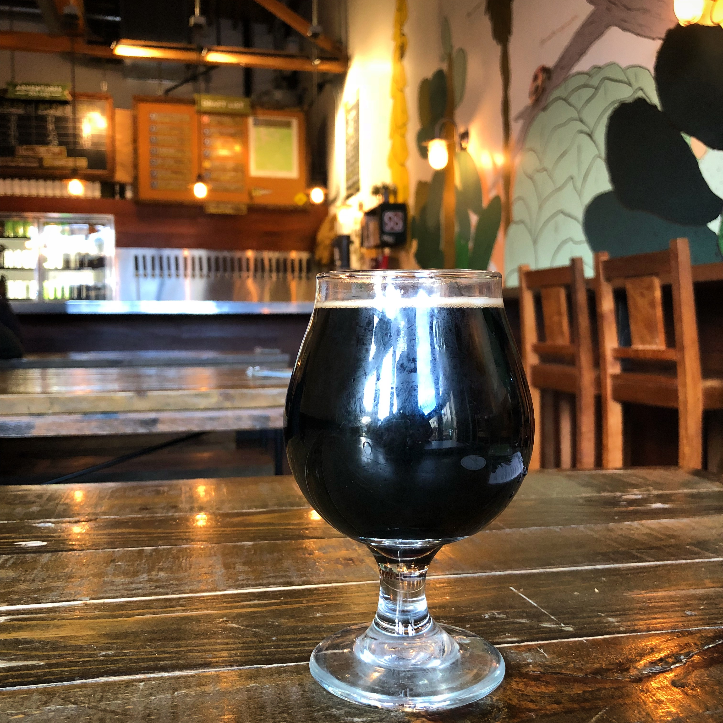 A glass of beer at Fieldwork Brewing in Sacramento, California